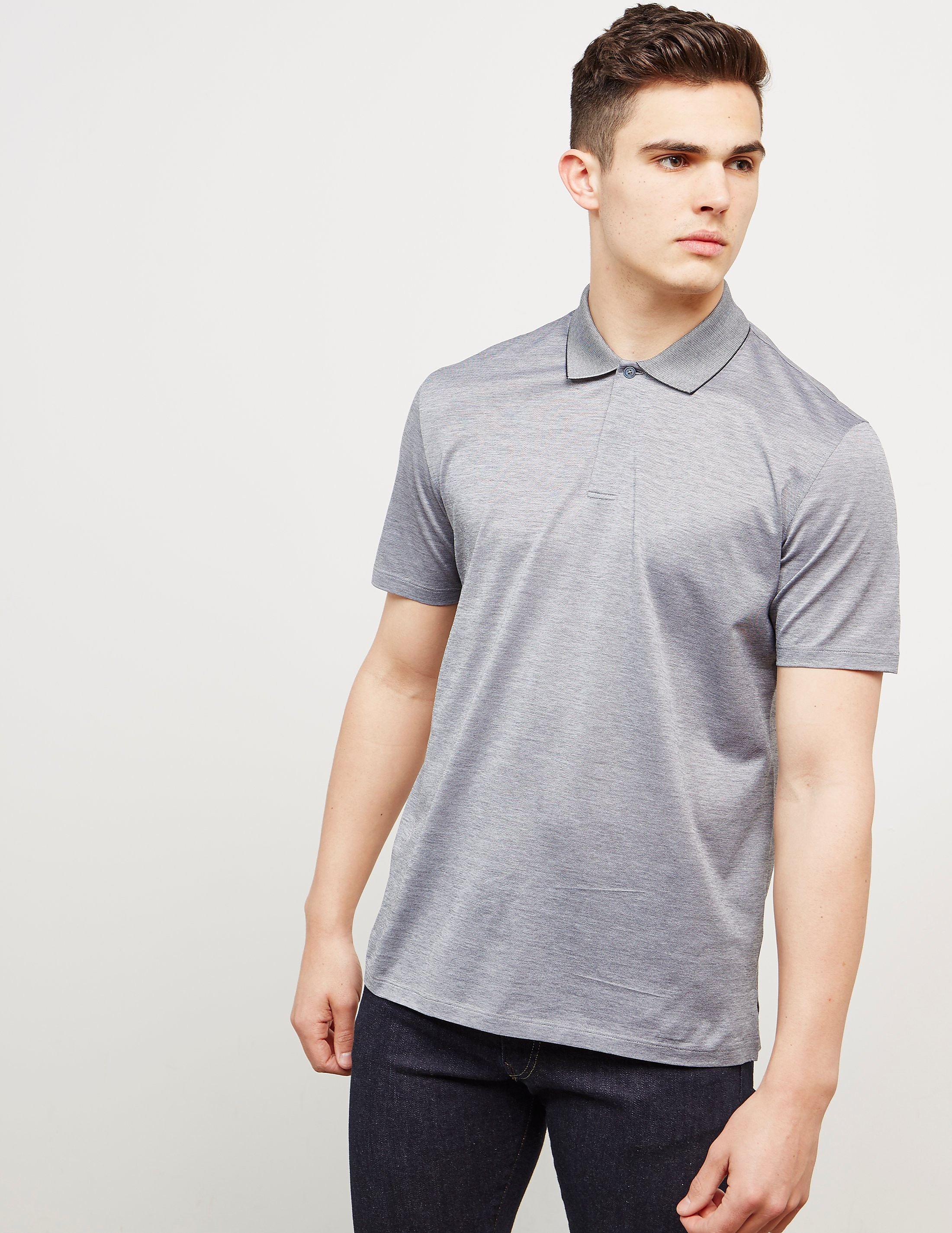 Z Zegna Slub Short Sleeve Polo Shirt - Online Exclusive