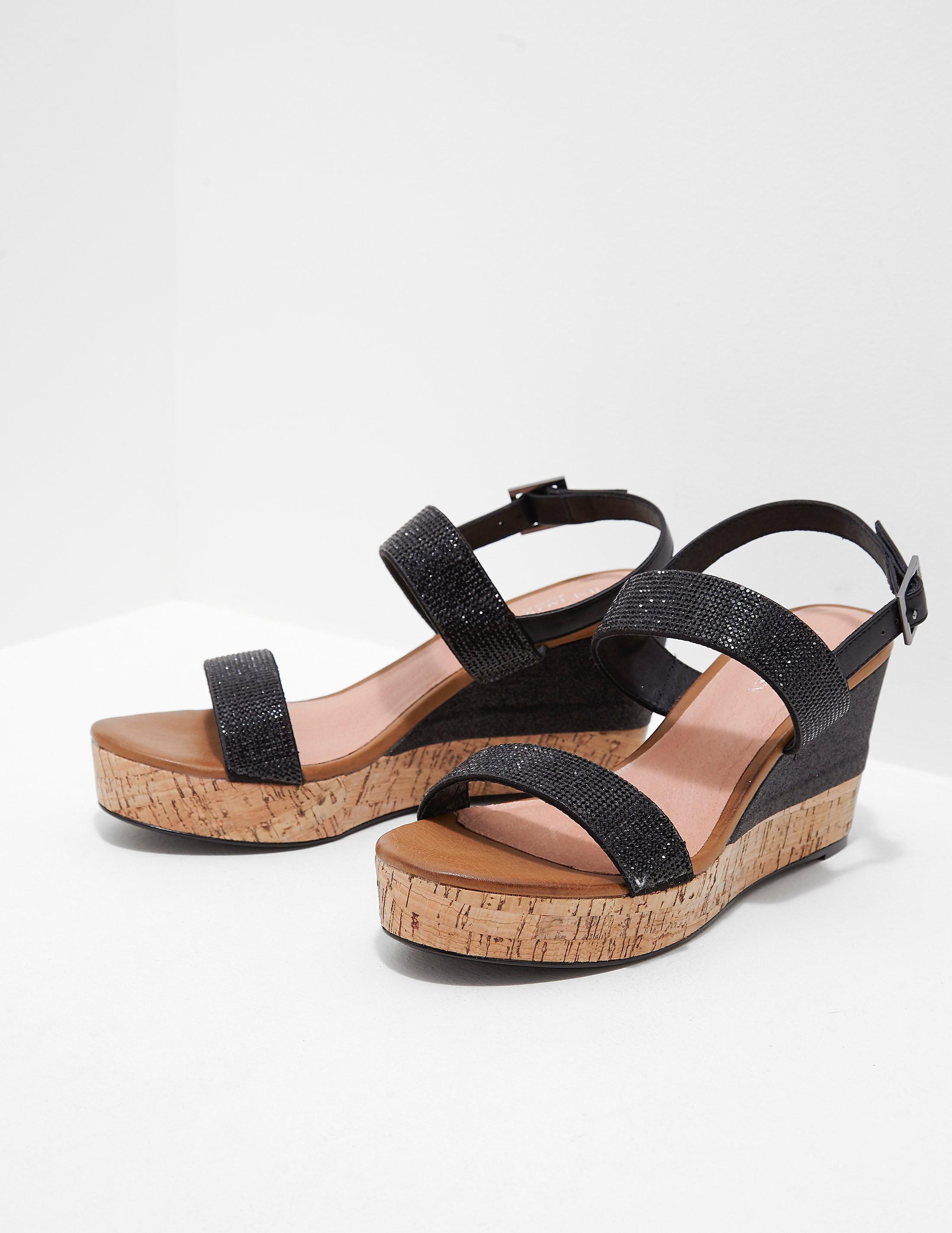 Ilse Jacobsen Poppy Diamante Wedge Sandals