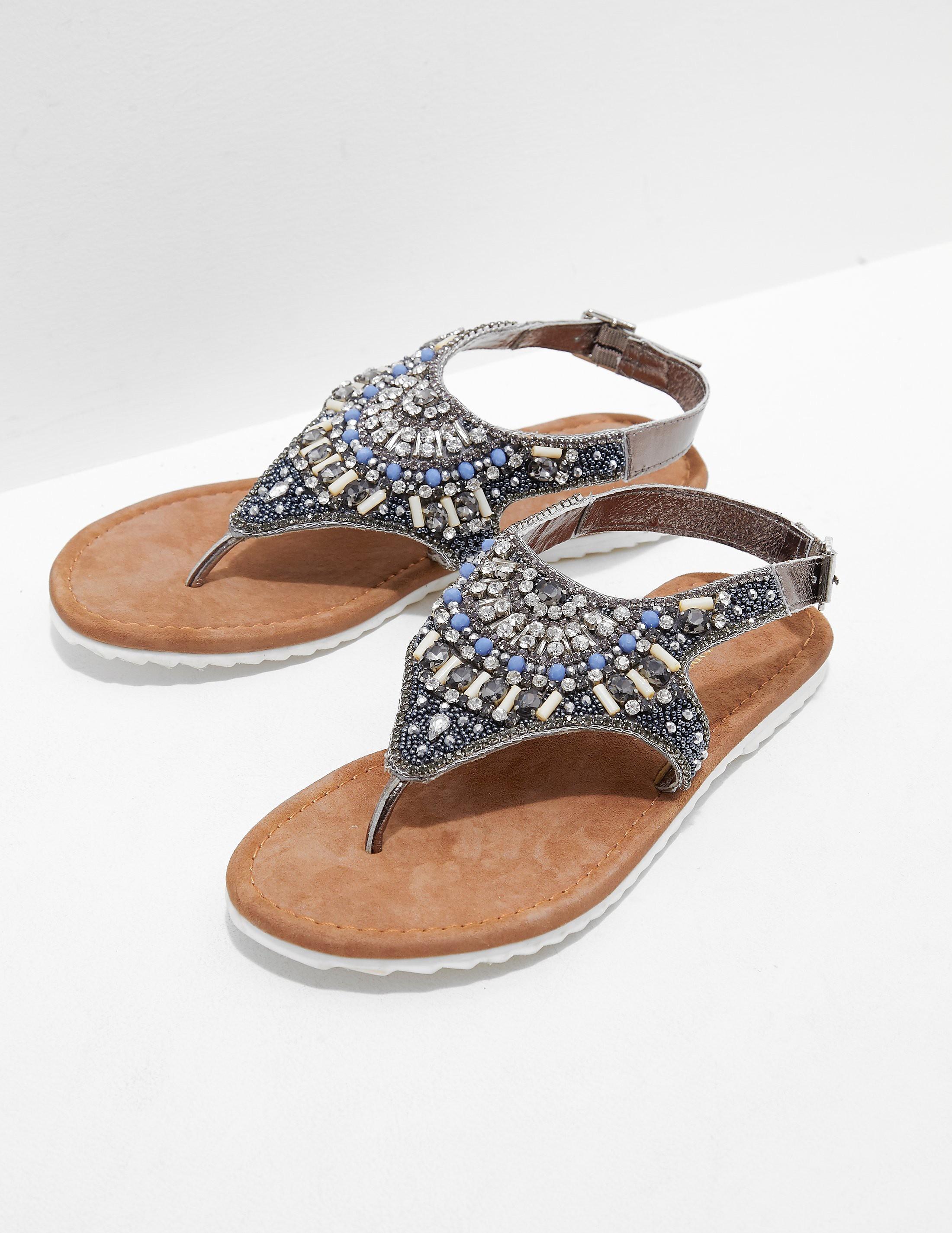 Ilse Jacobsen Sparkle Jewel Sandals