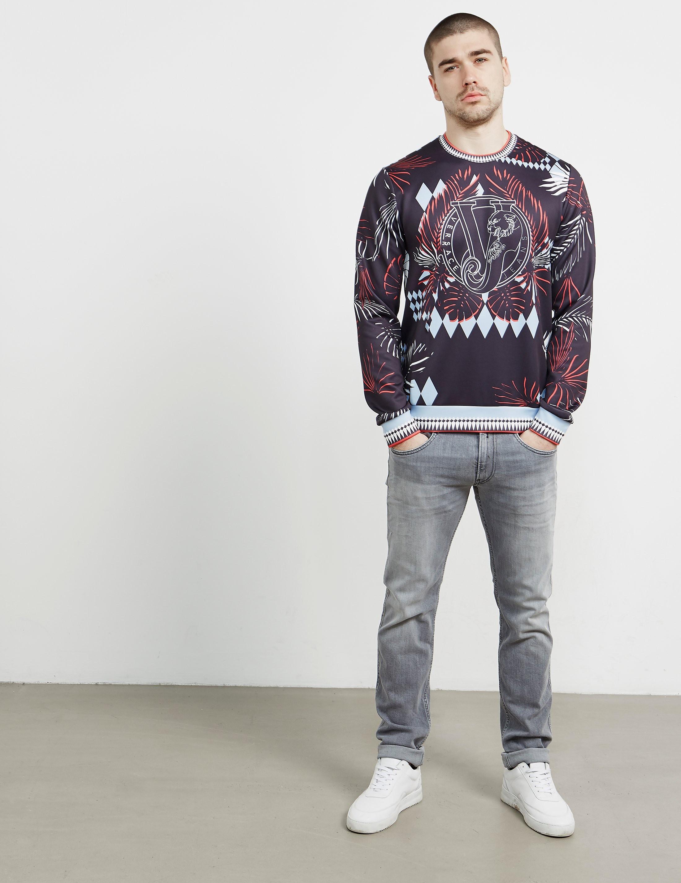 Versace Optical Crew Sweatshirt