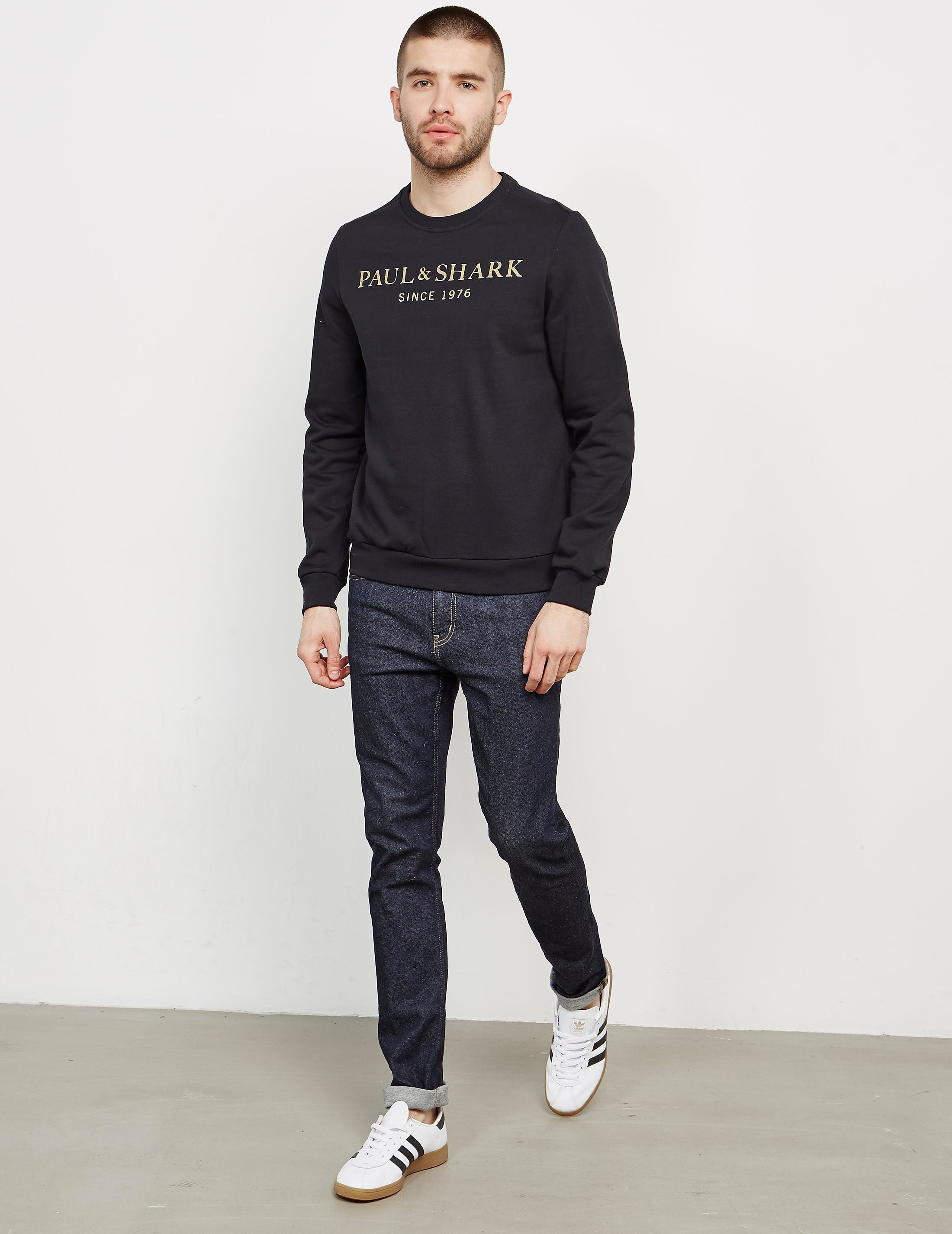 Paul and Shark Gold Logo Crew Sweatshirt - Exclusive