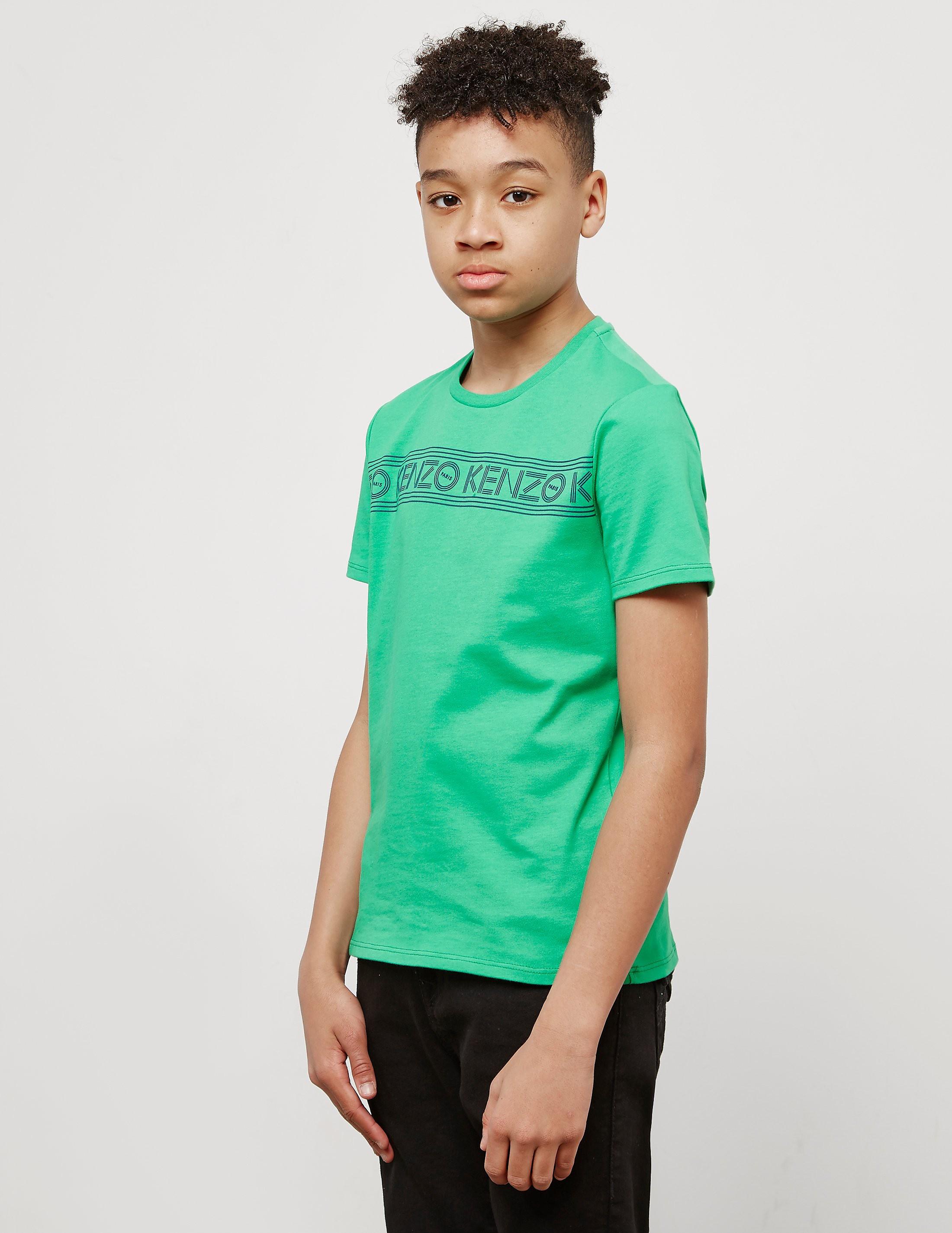 KENZO Stripe Logo Short Sleeve T-Shirt