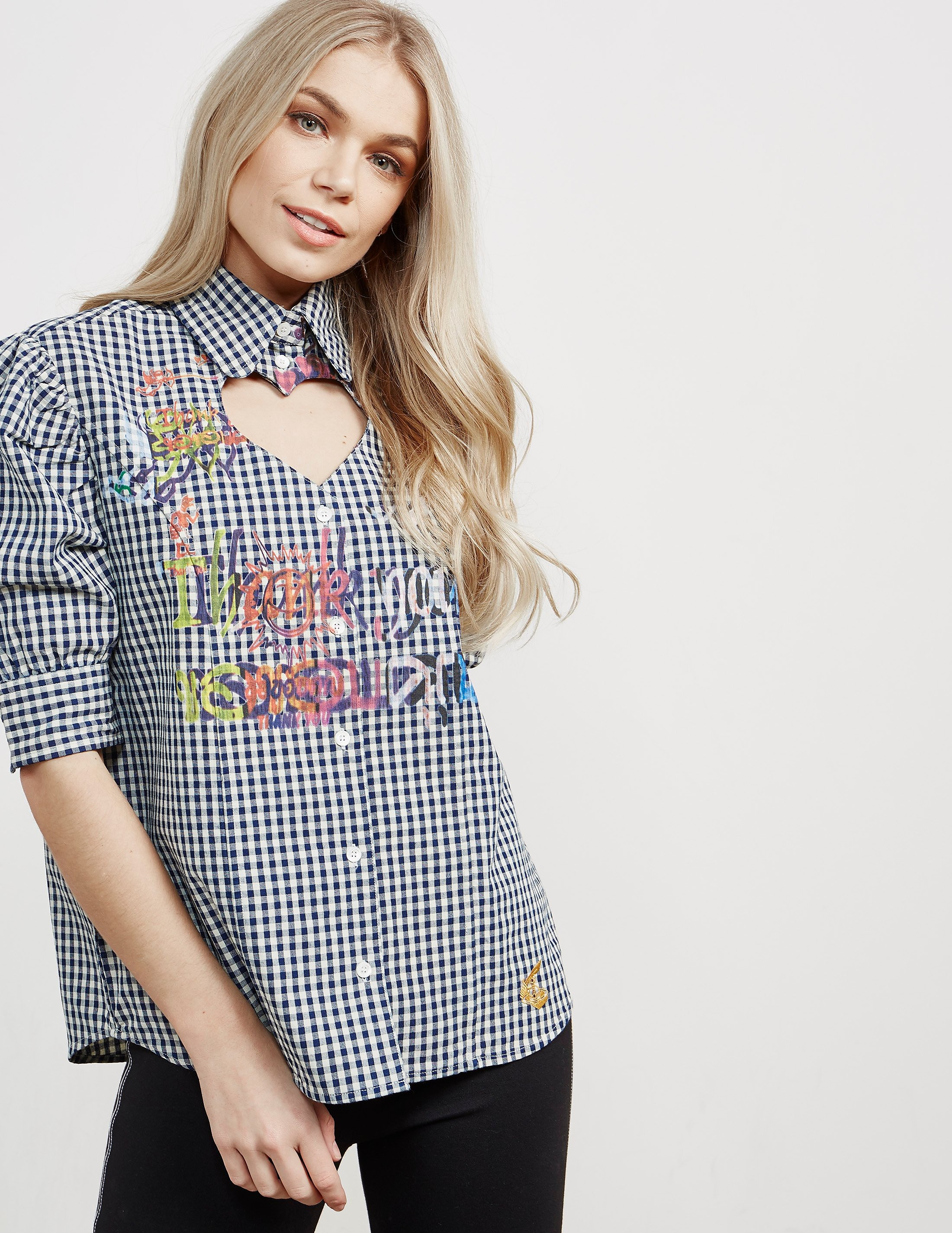 Vivienne Westwood Anglomania Cut Out Heart Short Sleeve Shirt