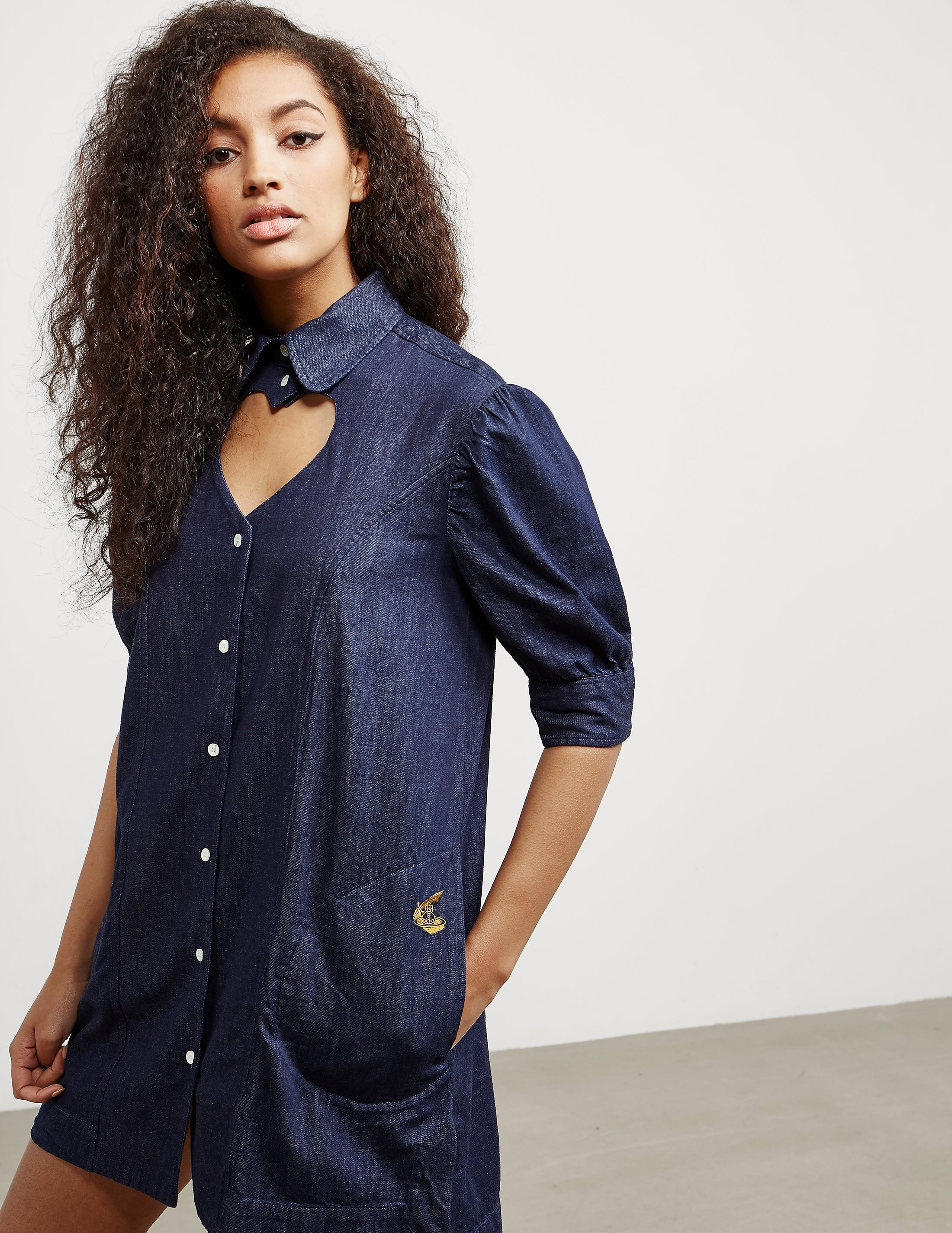 Vivienne Westwood Anglomania Denim Heart Dress