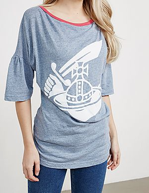 7d9616b09db Vivienne Westwood Anglomania Midling Orb Short Sleeve T-Shirt ...