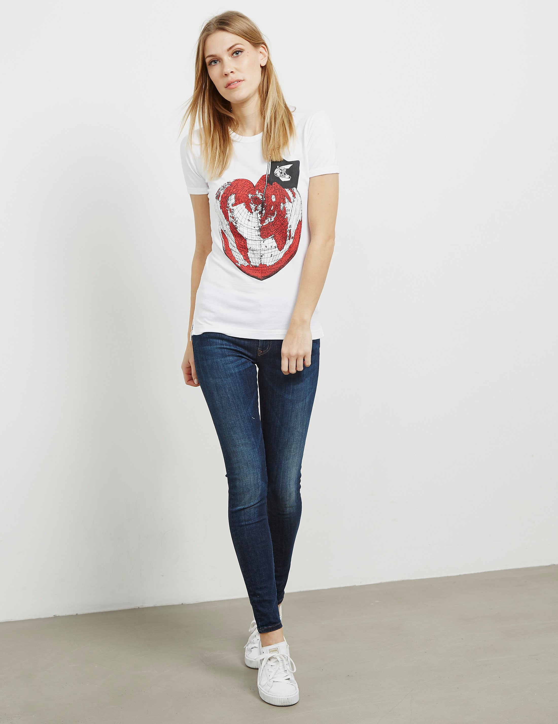 Vivienne Westwood Anglomania Heart Short Sleeve T-Shirt