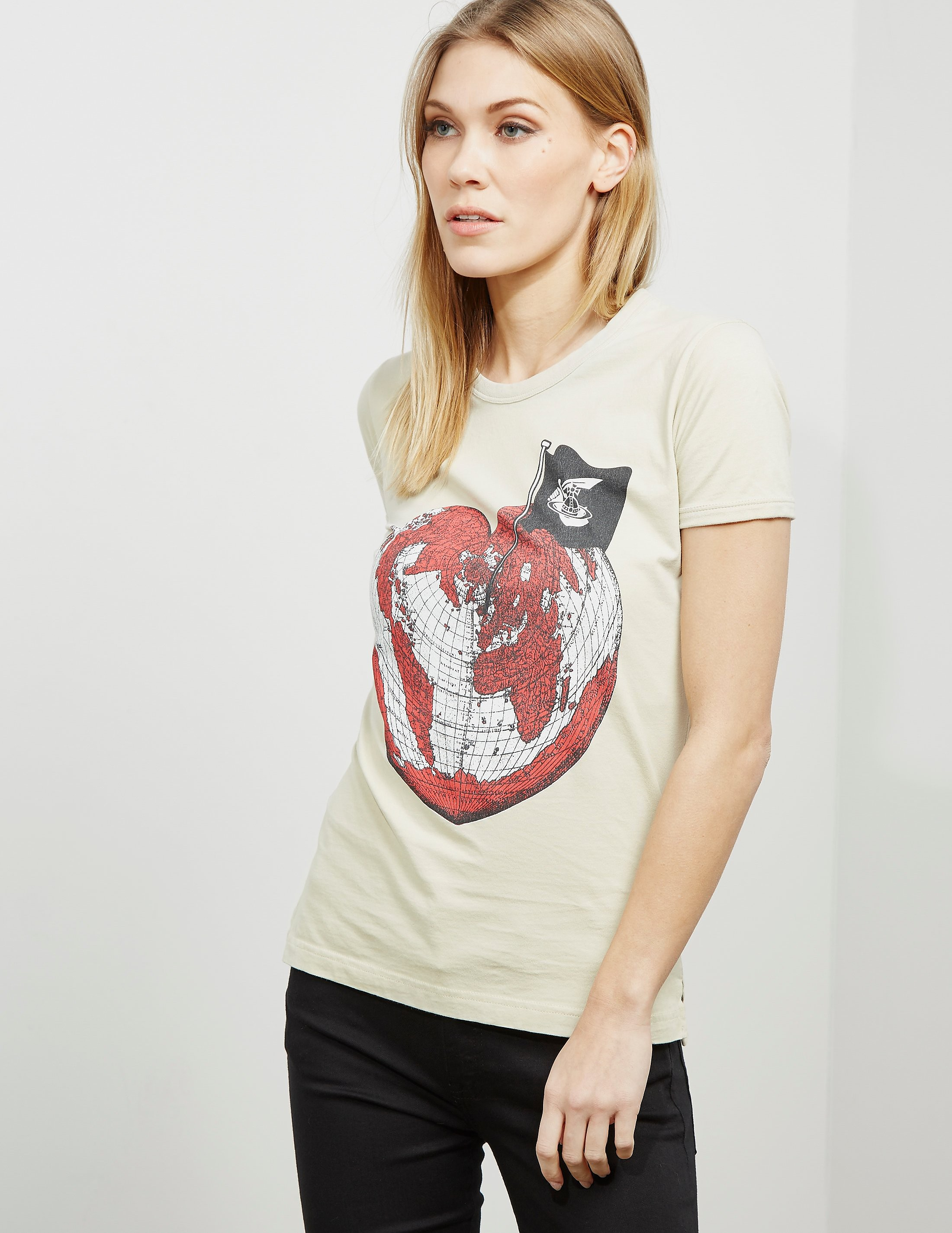 Vivienne Westwood Anglomania Heart World Short Sleeve T-Shirt
