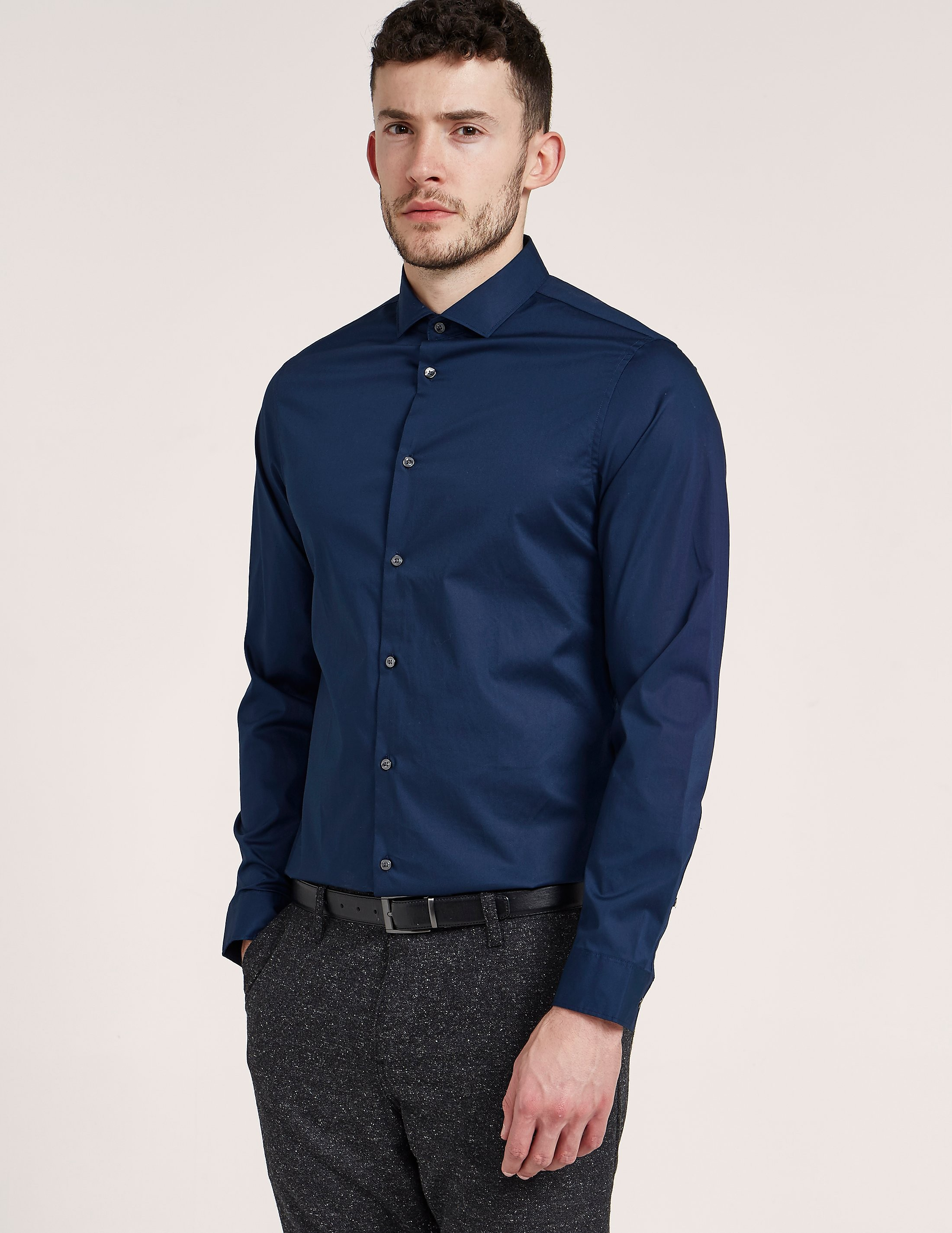 Michael Kors Slim Fit Cotton Stretch Long Sleeve Shirt