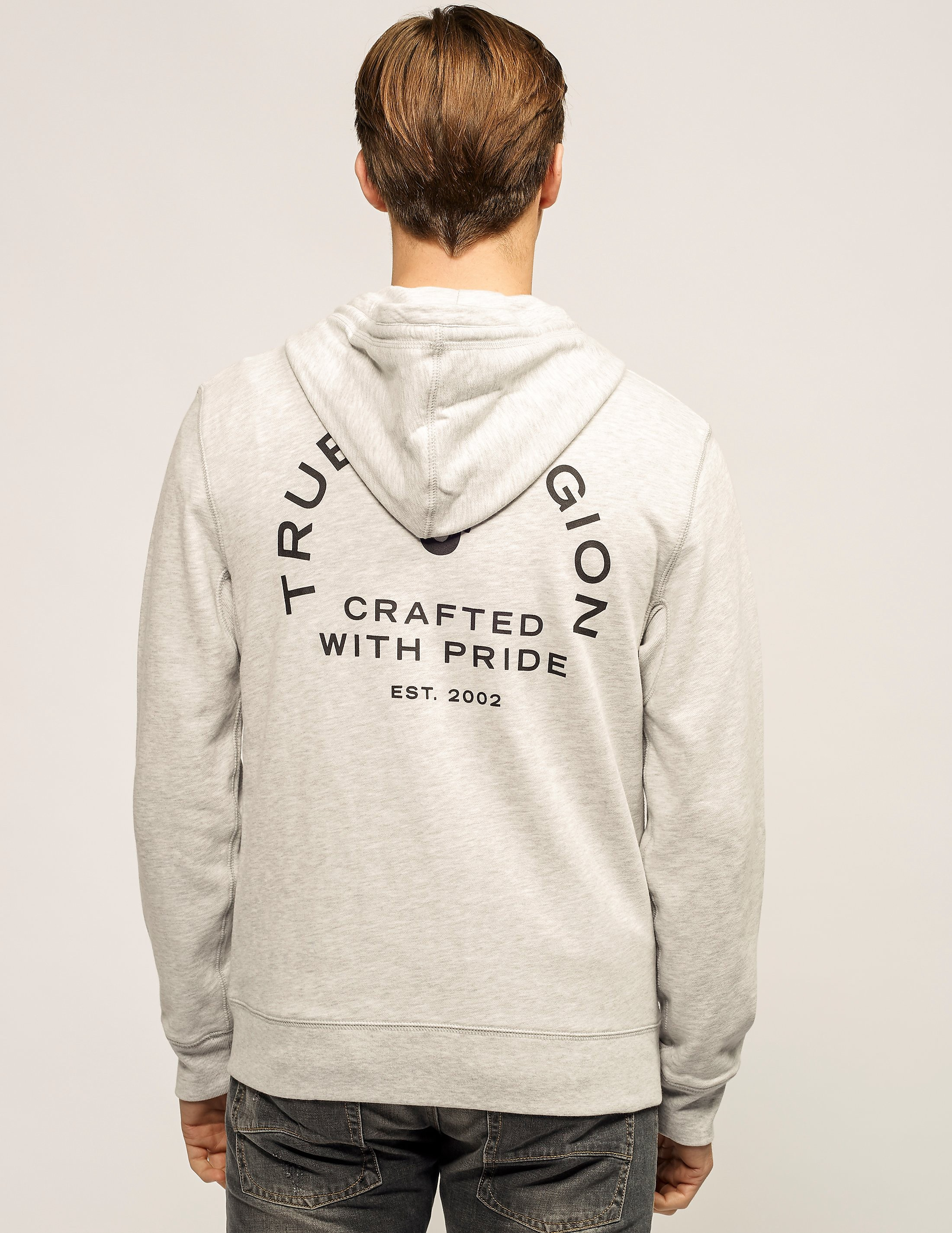 True Religion Crafted Zip Hooded Sweatshirt