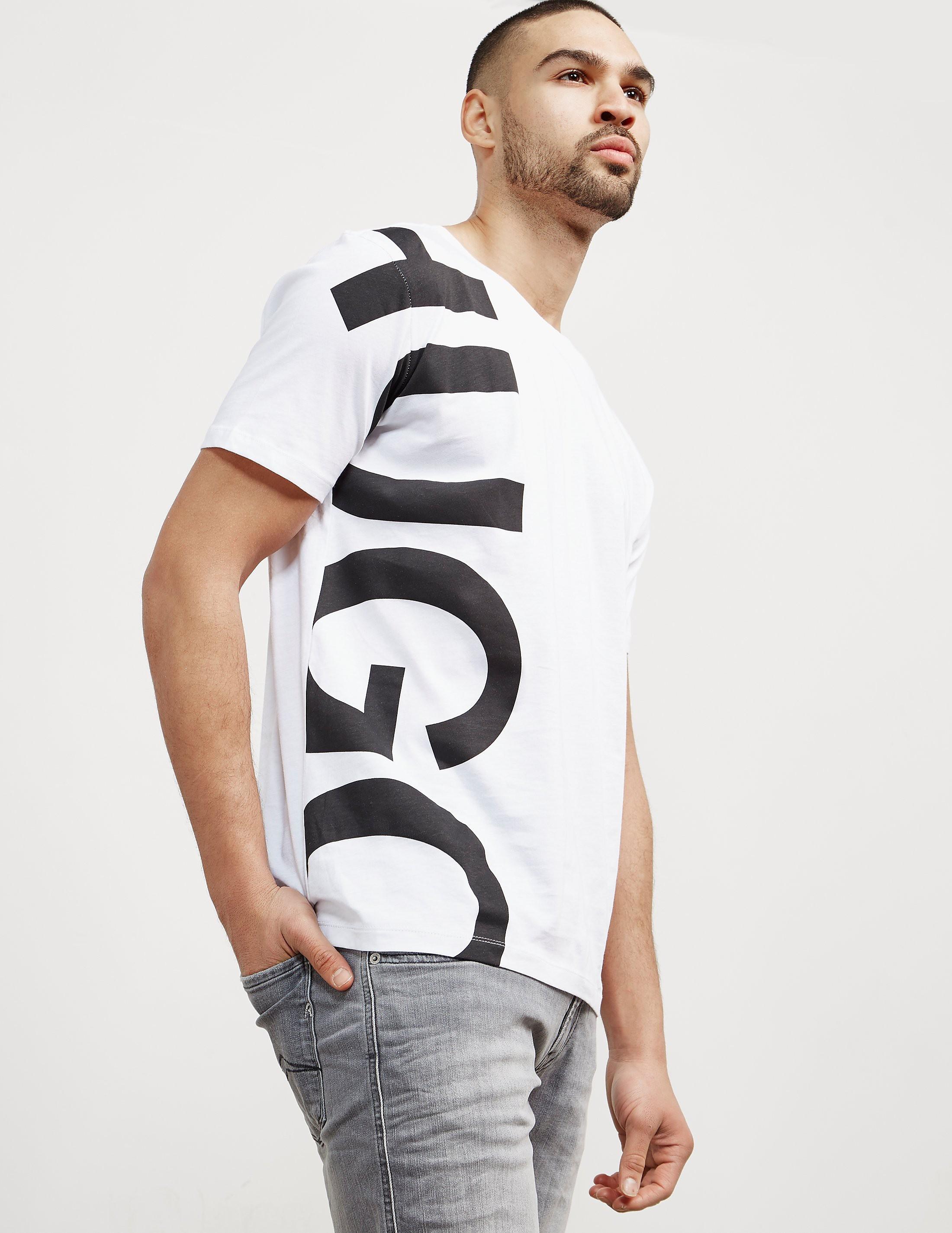 HUGO Large Side Logo Short Sleeve T-Shirt