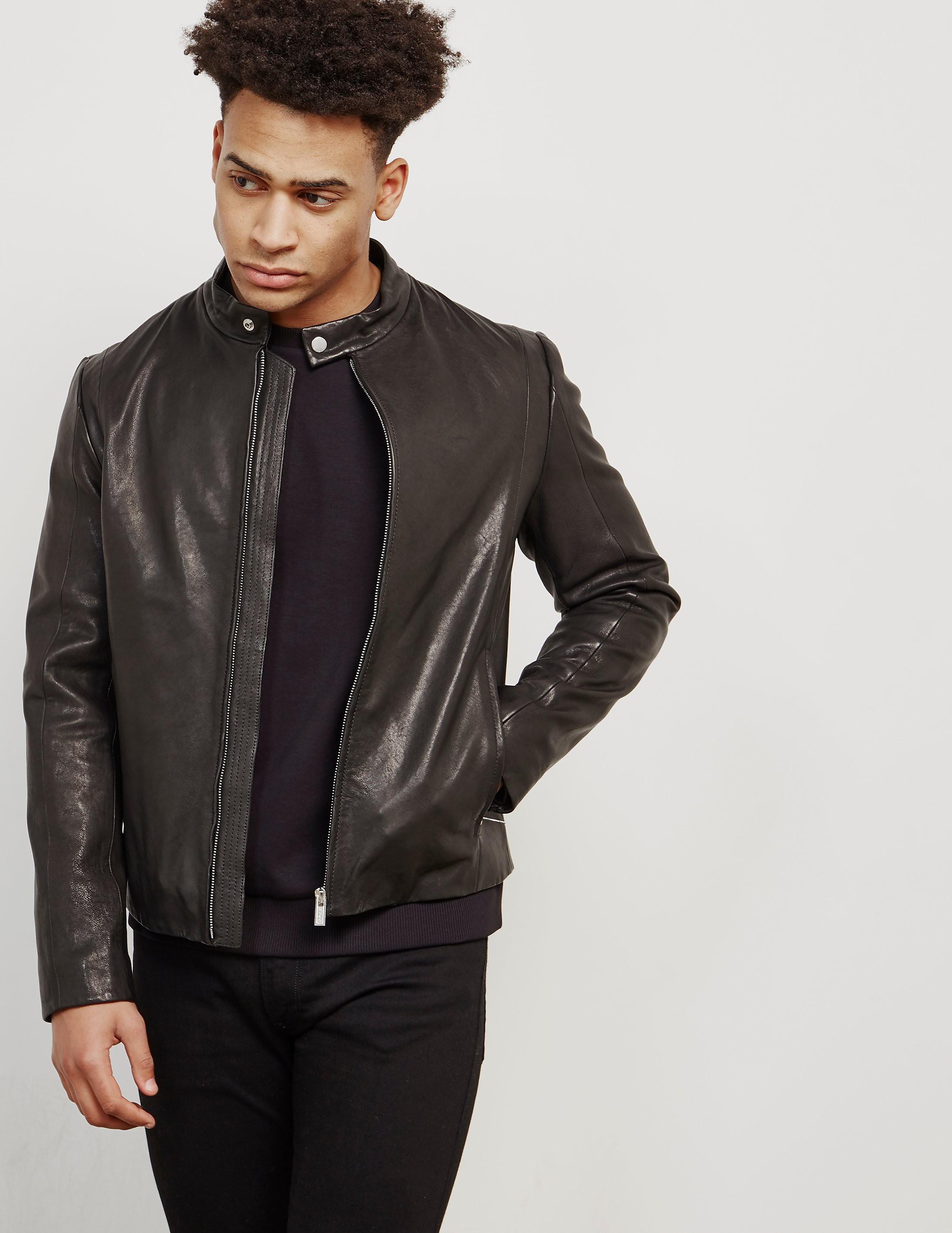 HUGO Leras Leather Jacket