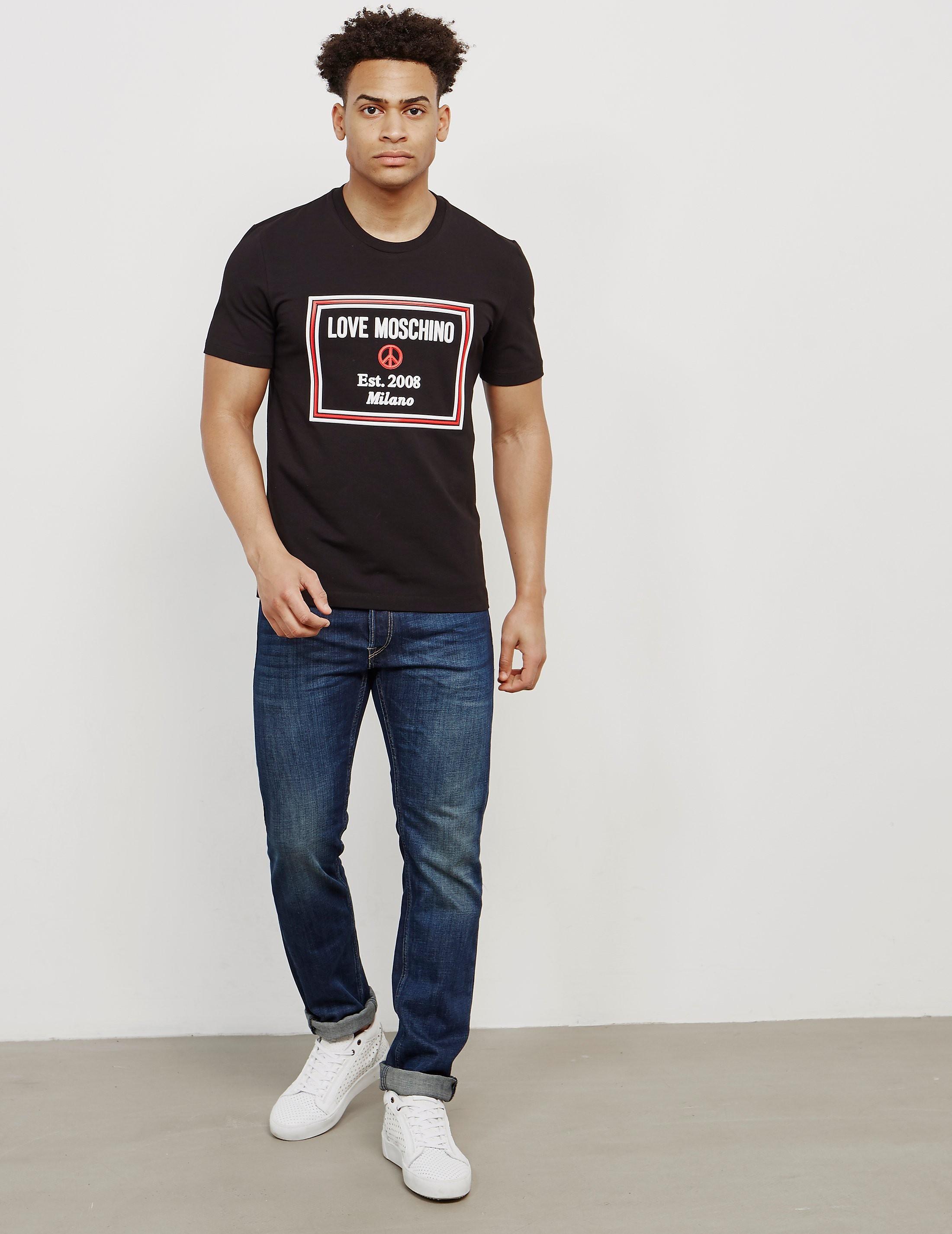 Love Moschino Peace Box Short Sleeve T-Shirt
