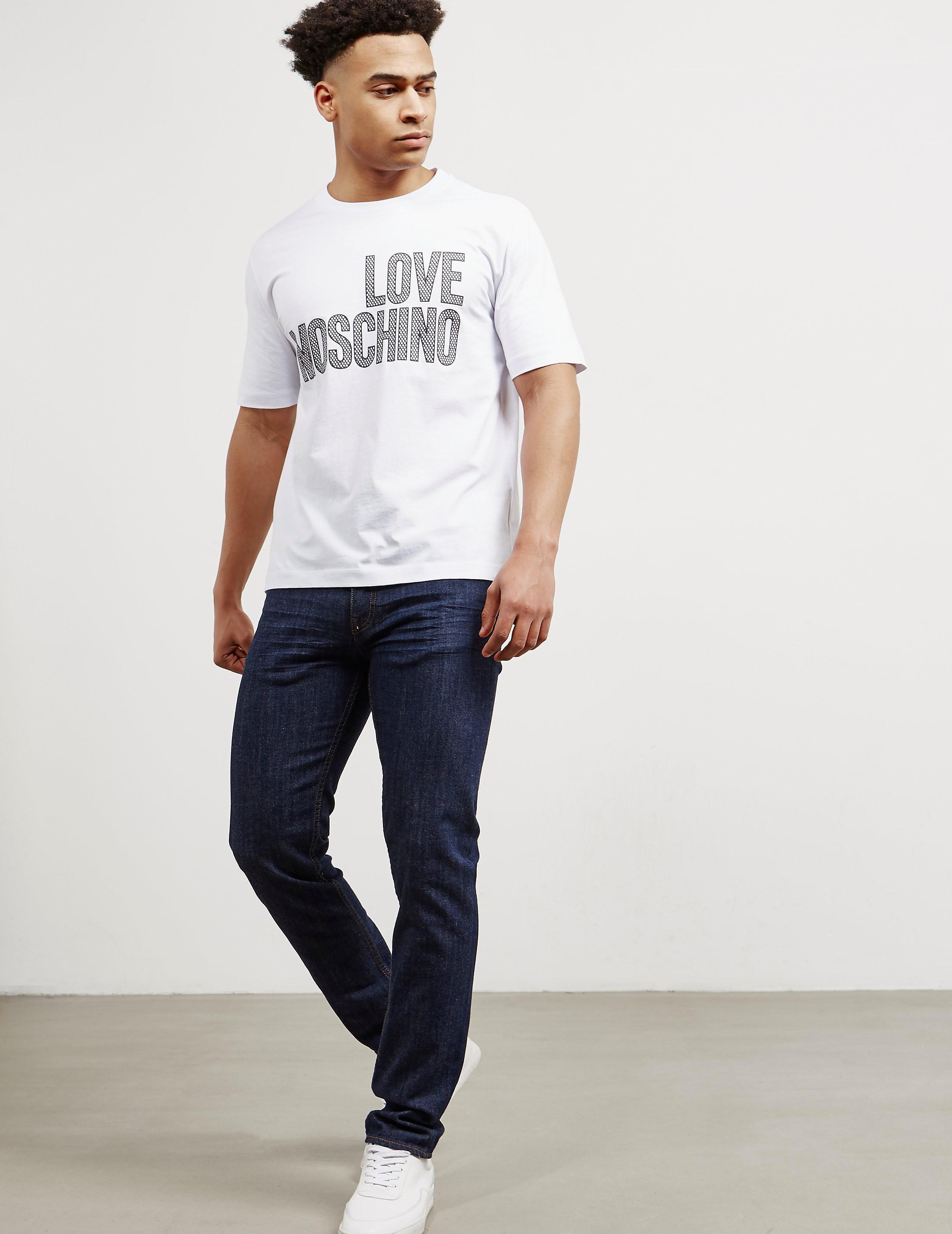 Love Moschino Dot Logo Short Sleeve T-Shirt