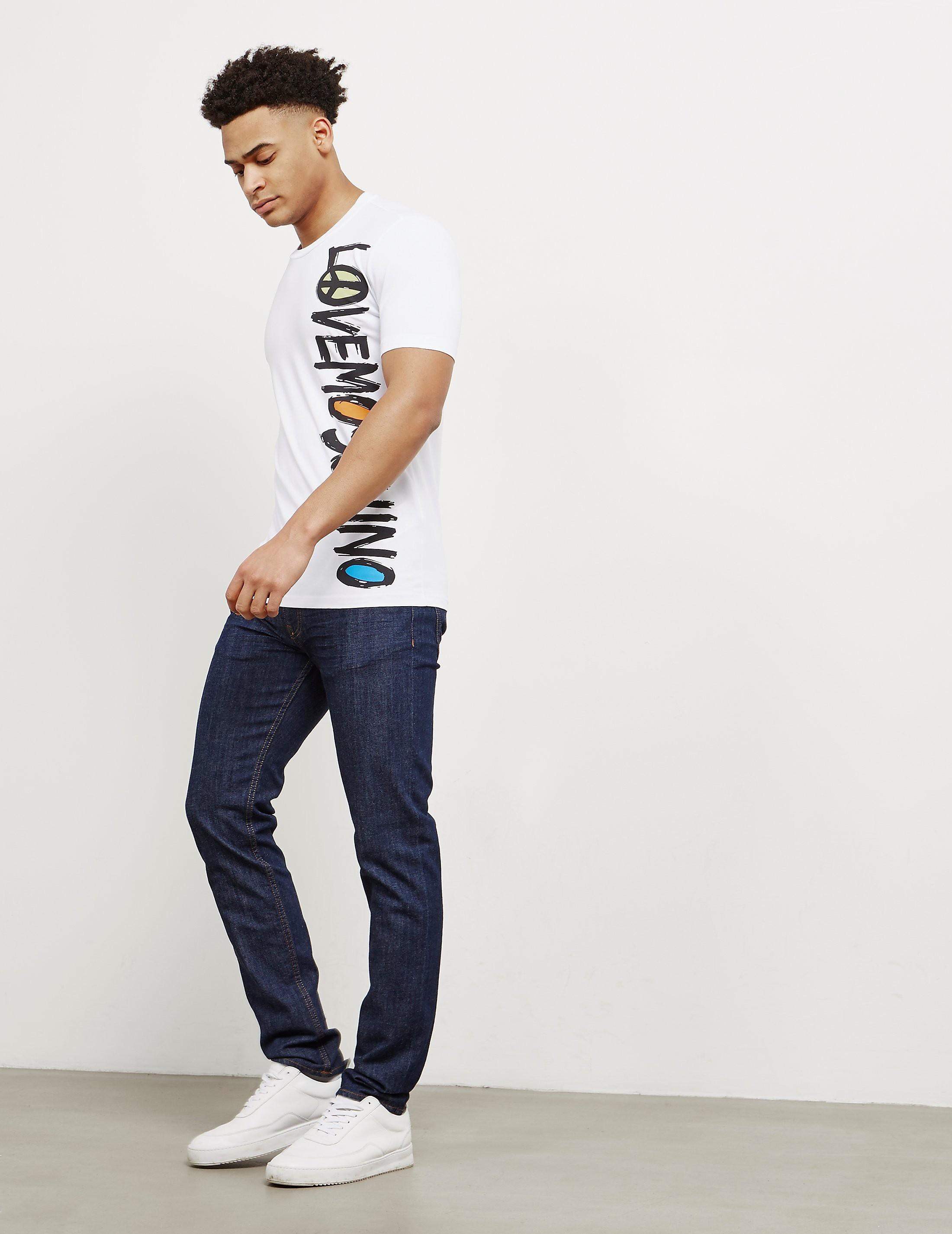 Love Moschino Scribble Short Sleeve T-Shirt