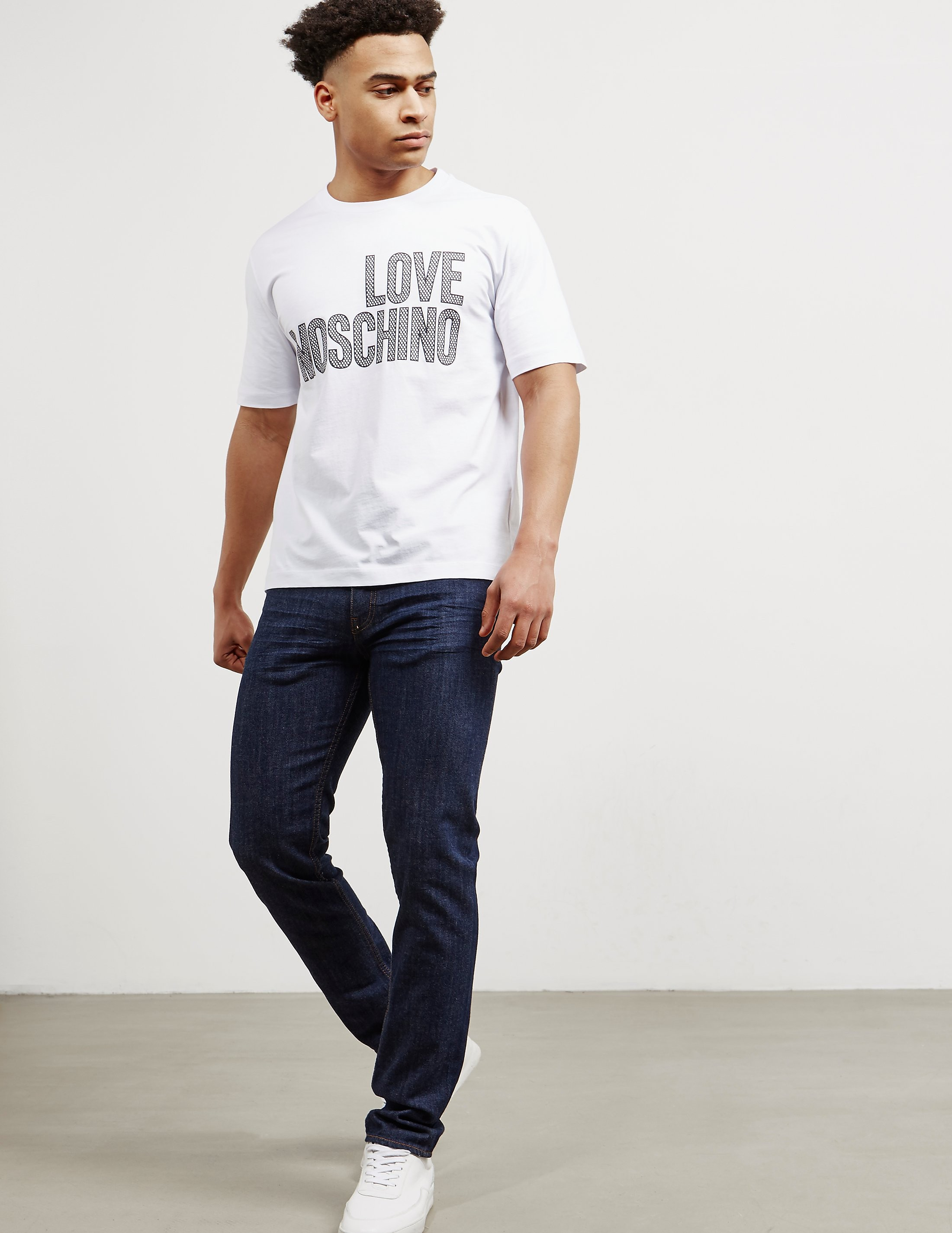 Love Moschino Gold Plaque Jeans - Online Exclusive