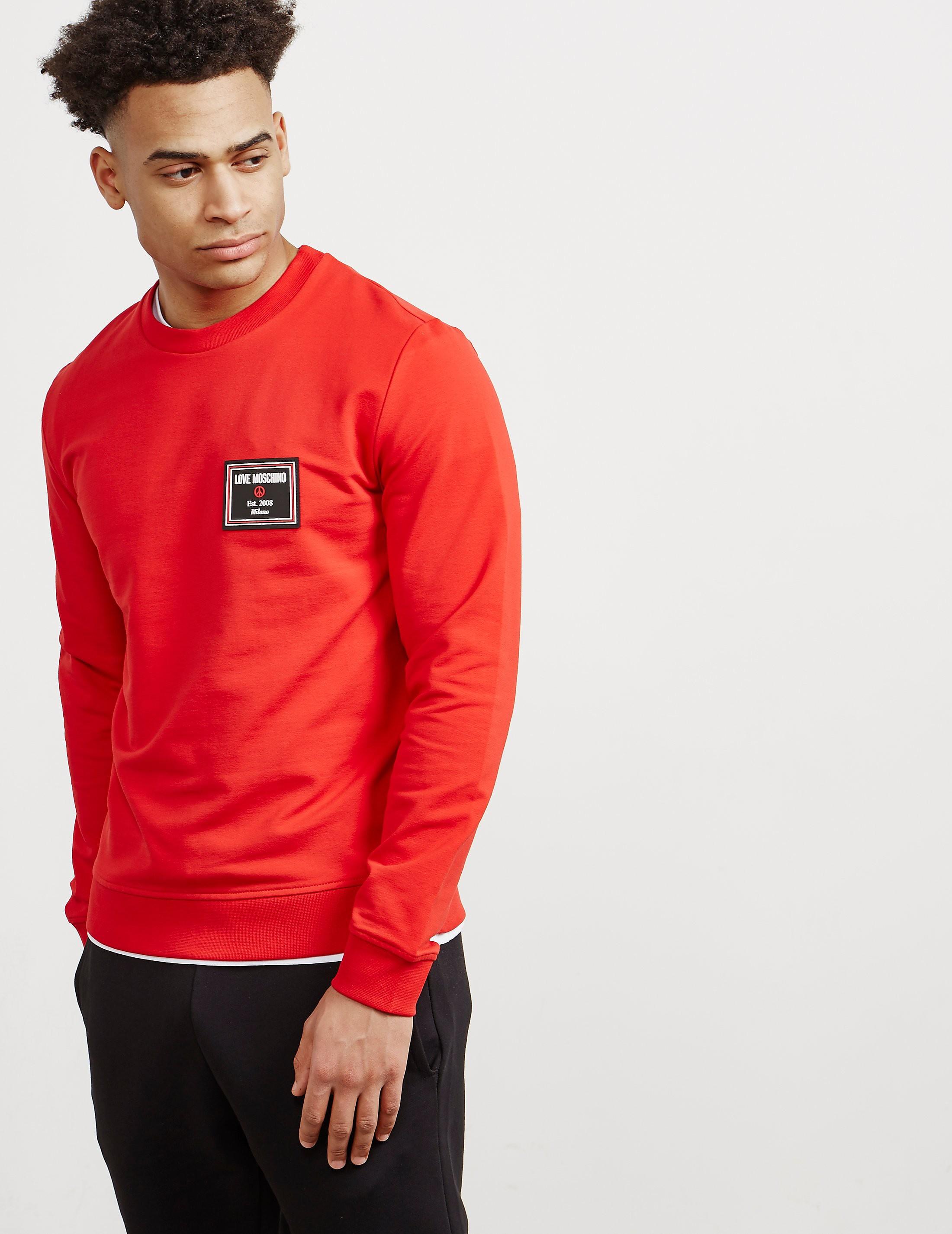 Love Moschino Peace Plaque Crew Sweatshirt