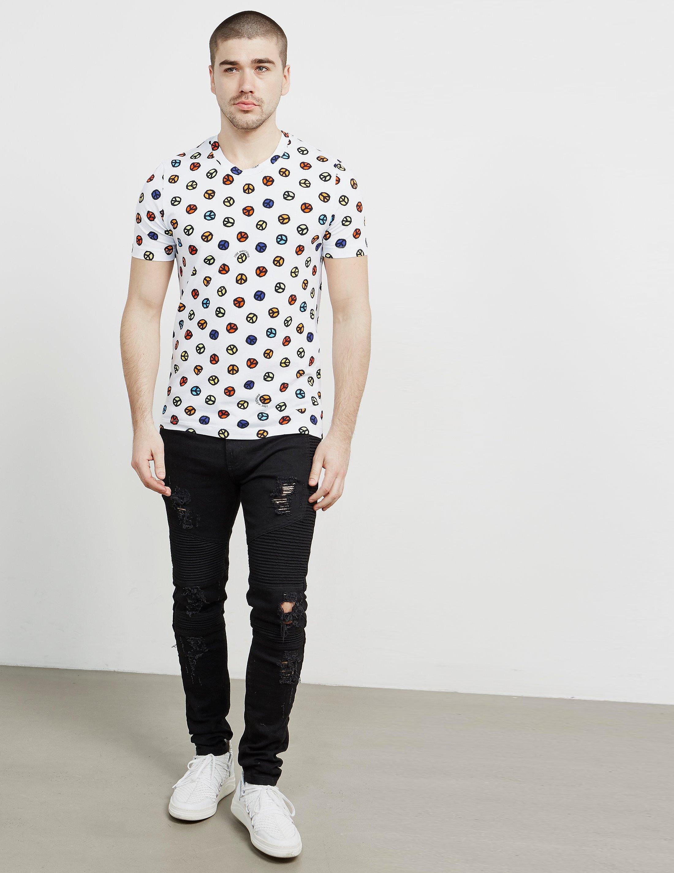 Love Moschino Small Peace Short Sleeve T-Shirt