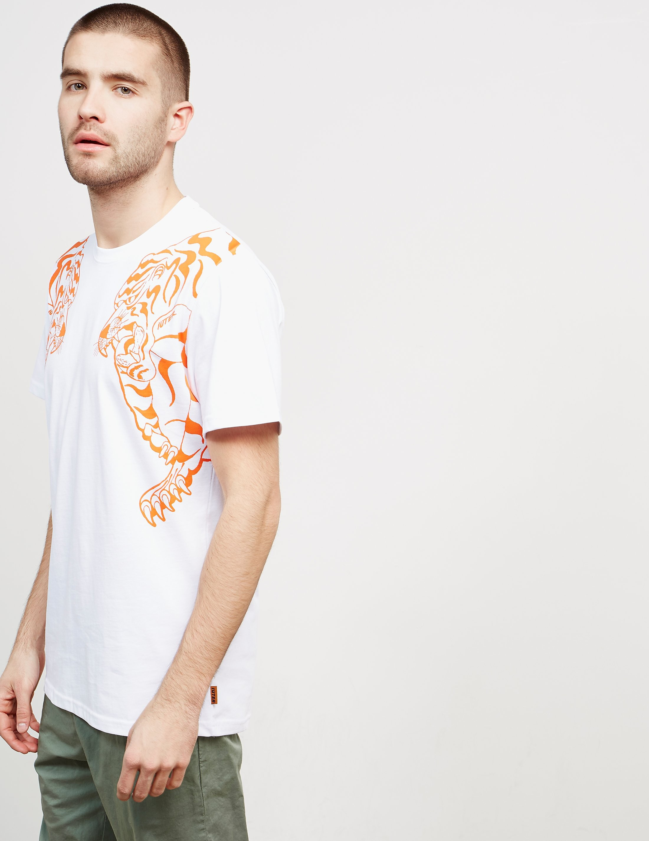 IUTER Nepal Tiger Print Short Sleeve T-Shirt
