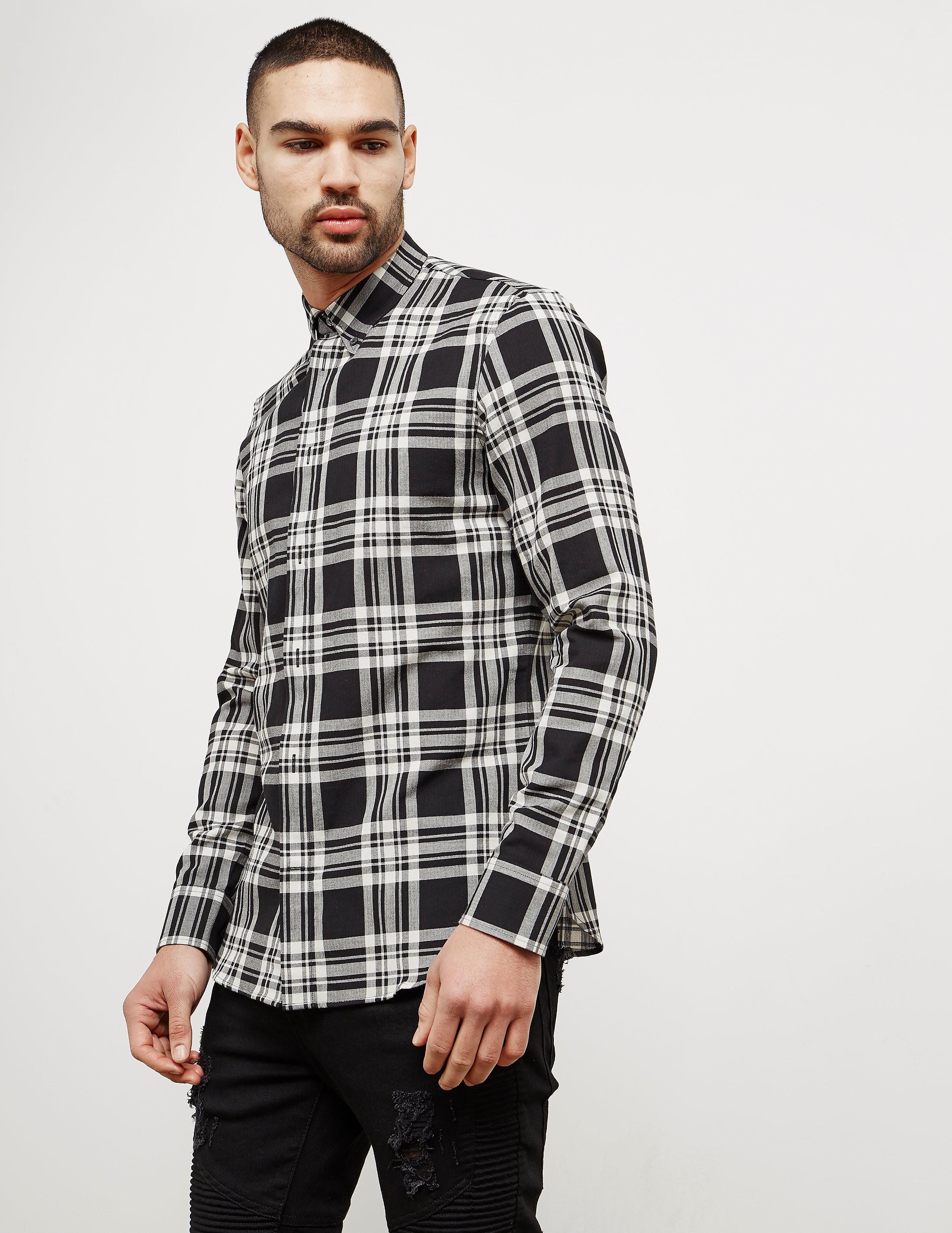 Maison Margiela Checked Long Sleeve Shirt