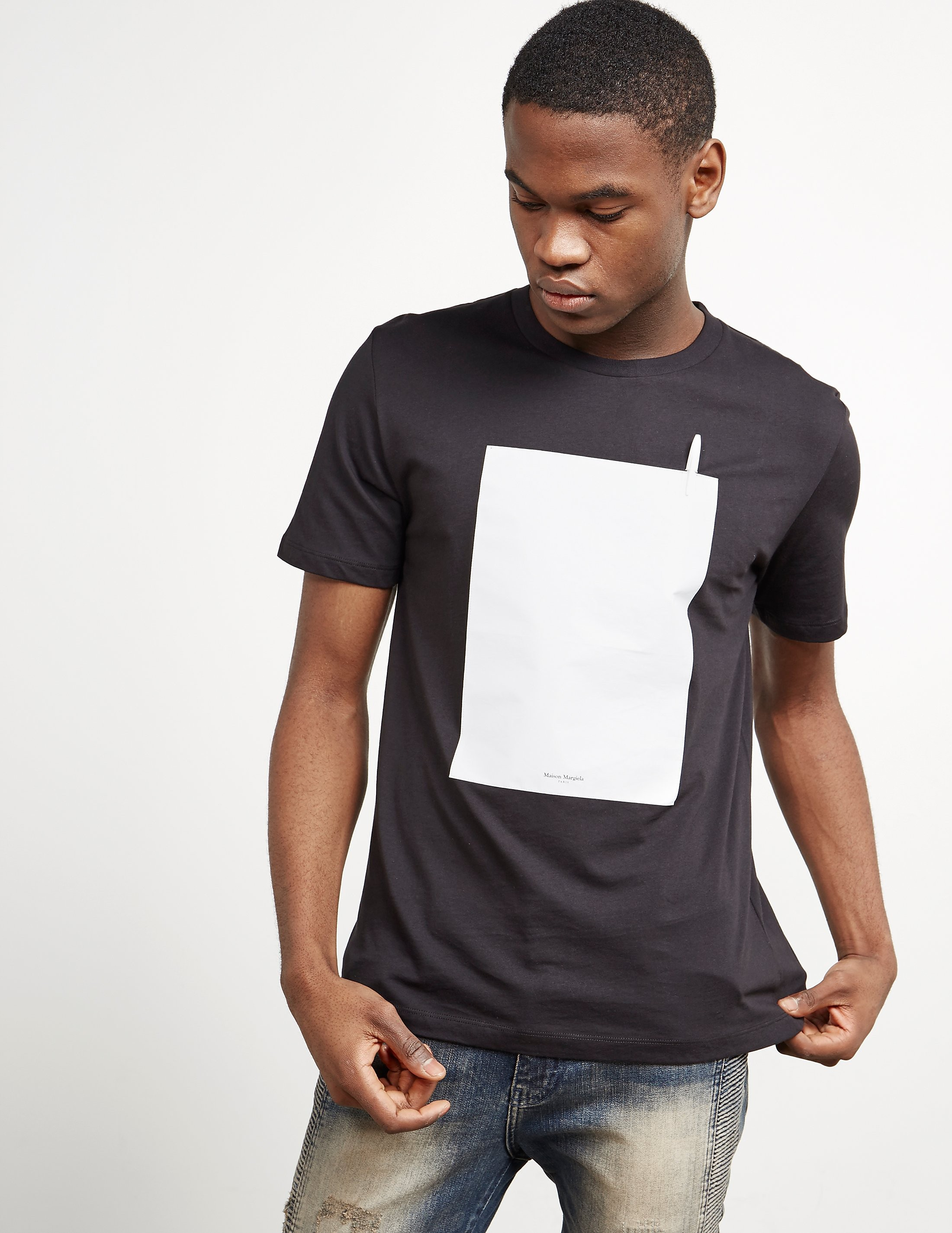 Maison Margiela Writer Short Sleeve T-Shirt