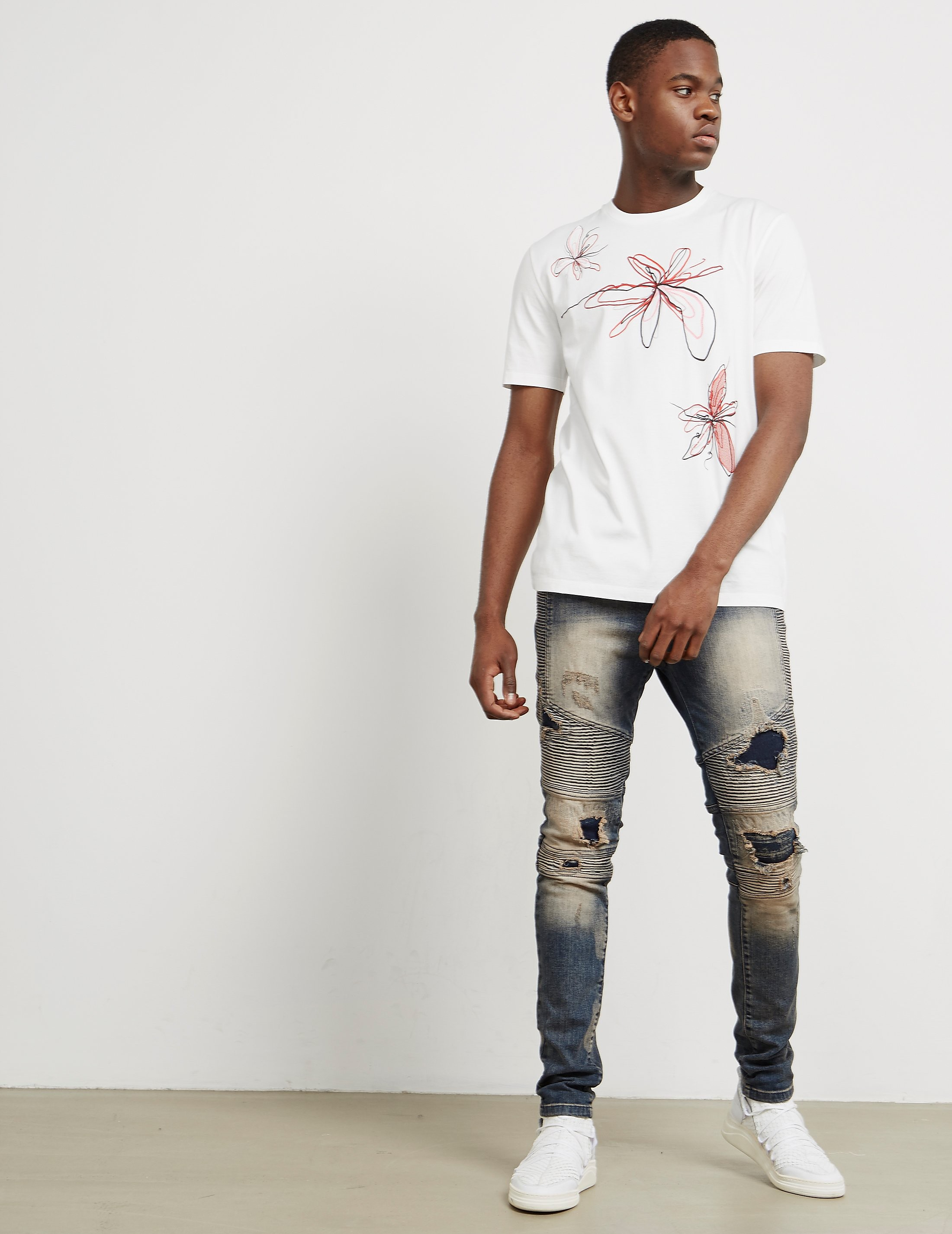 Maison Margiela Floral Short Sleeve T-Shirt