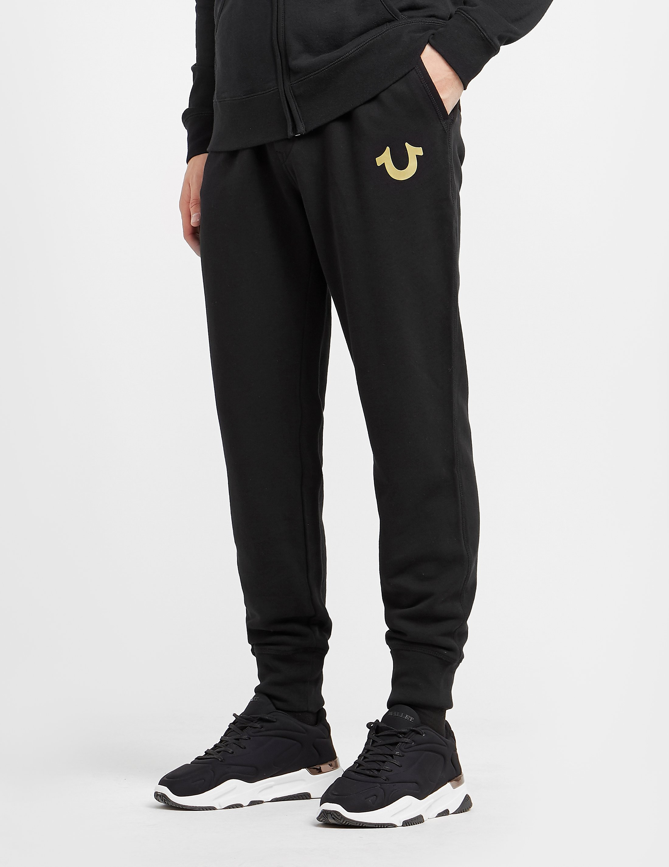 True Religion Gold Puff Cuffed Track Pants