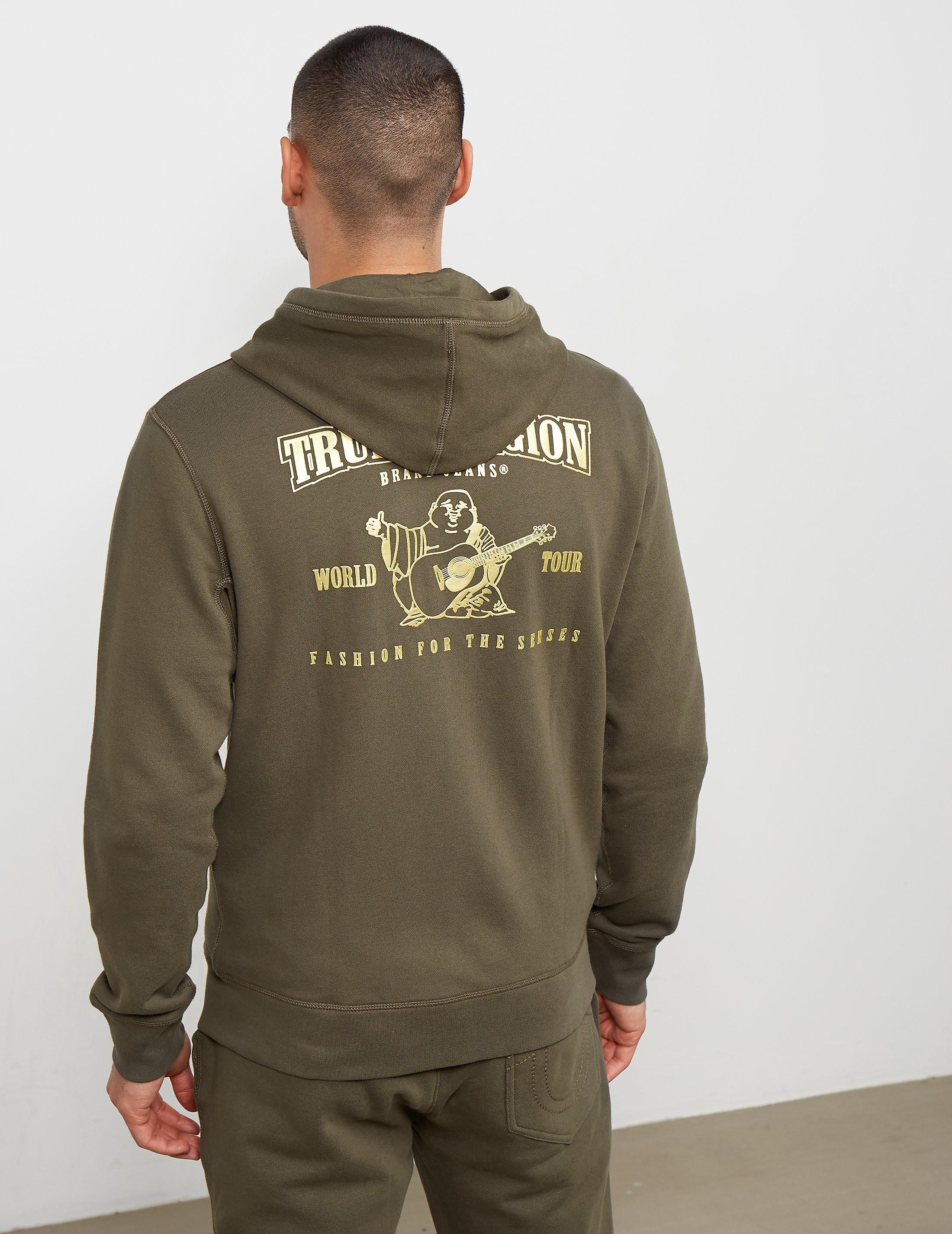 True Religion Full Zip Gold Puf Hoodie