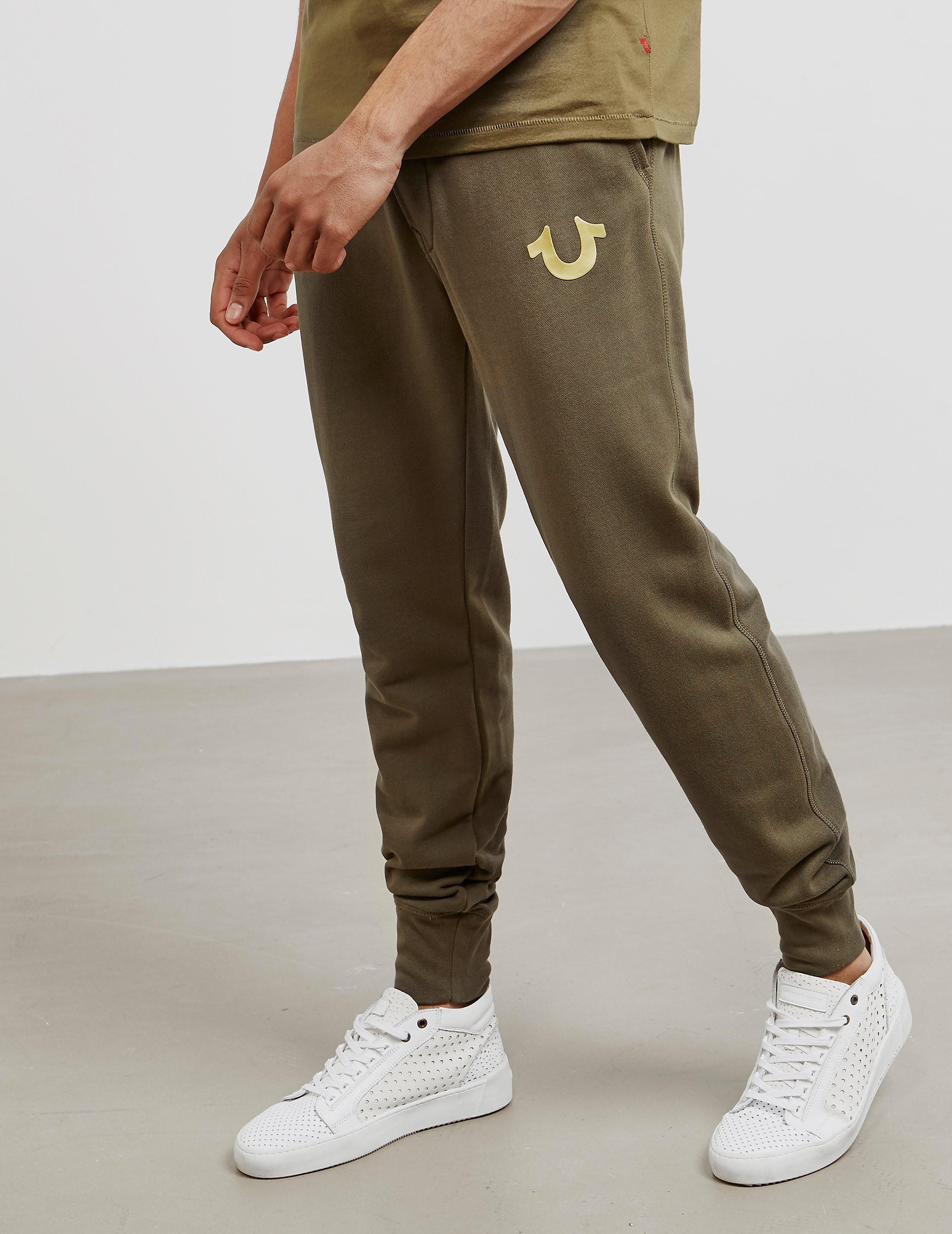 True Religion Gold Puff Cuffed Track Pants