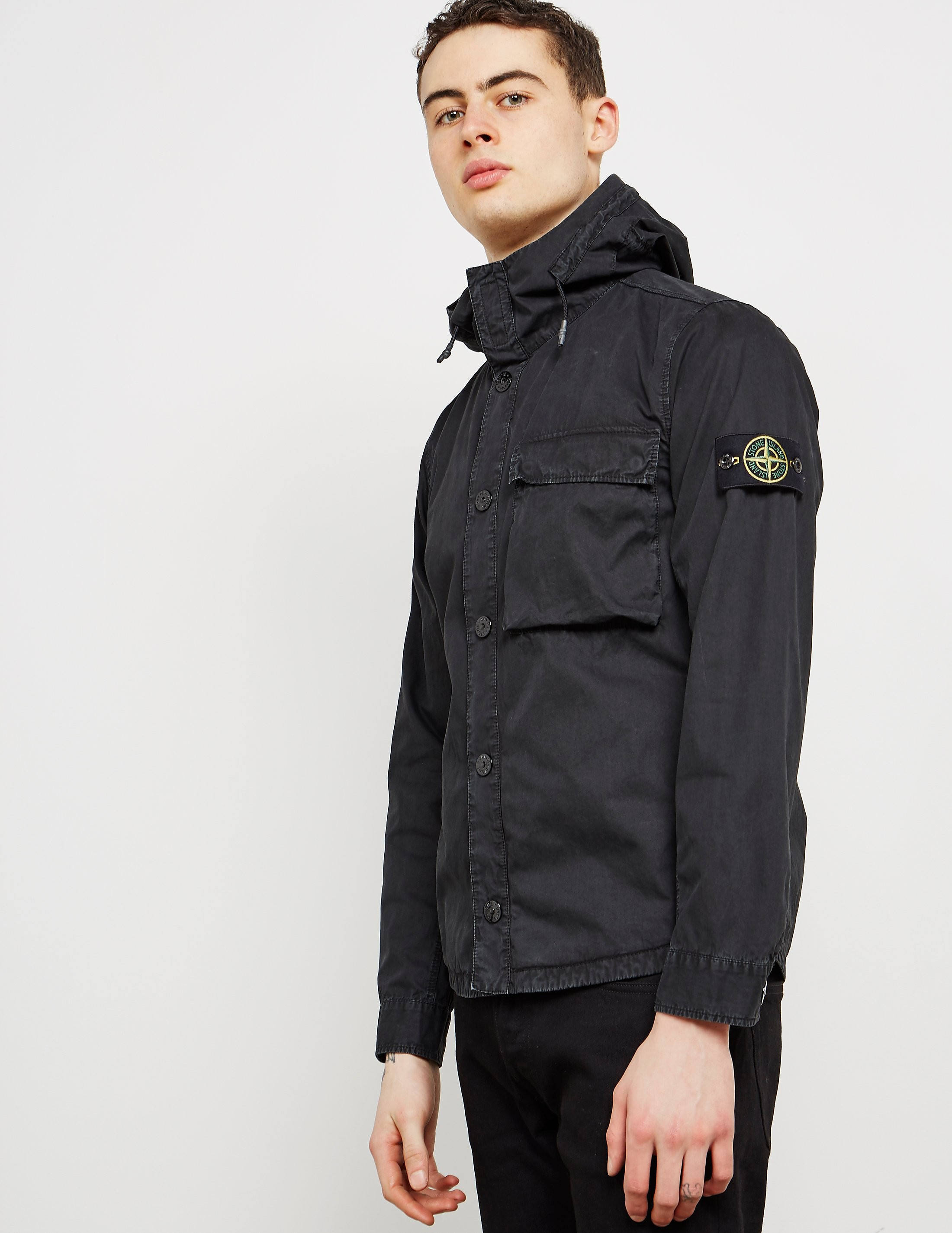 Stone Island Hooded Pocket Overshirt