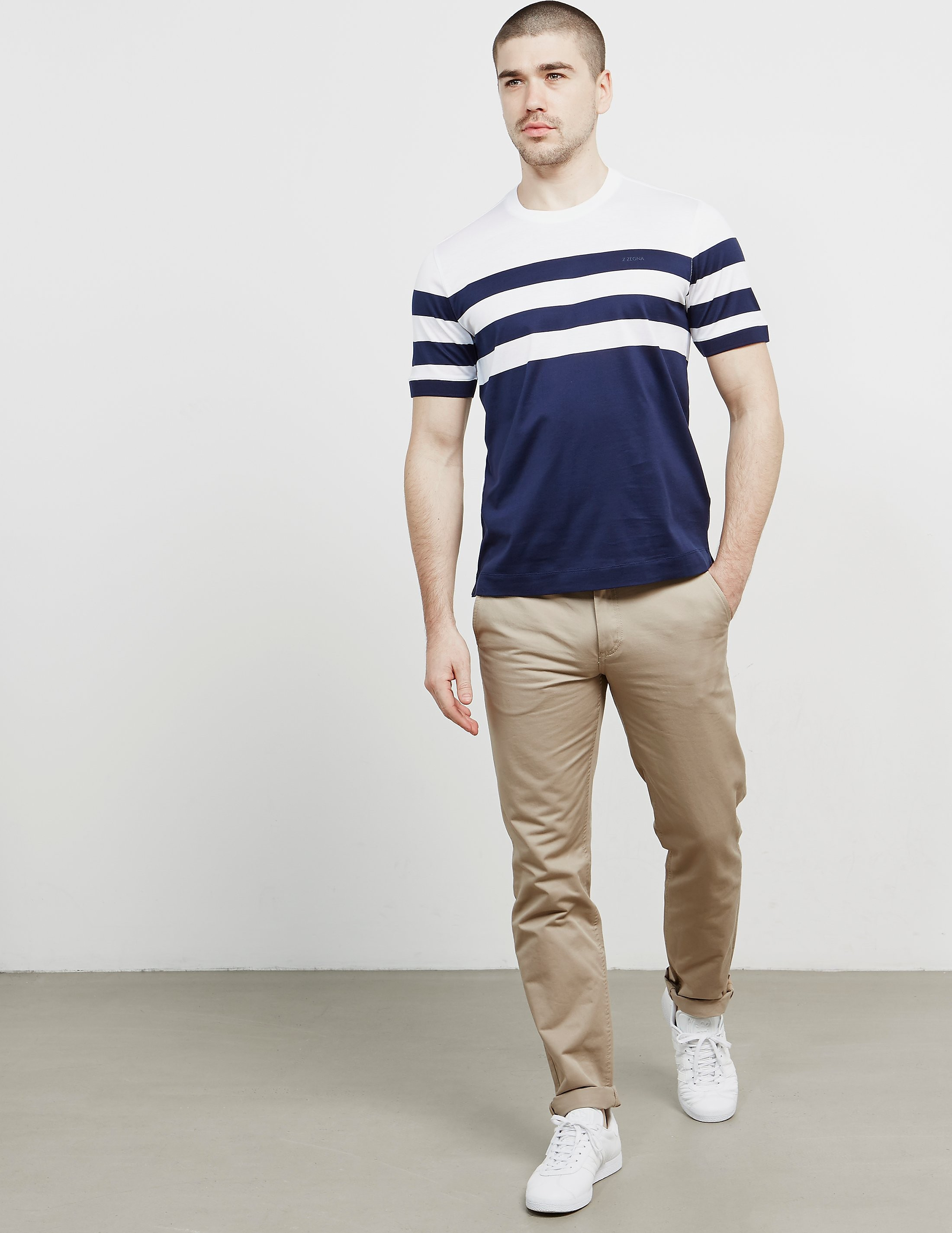 Z Zegna Stripe Short Sleeve T-Shirt