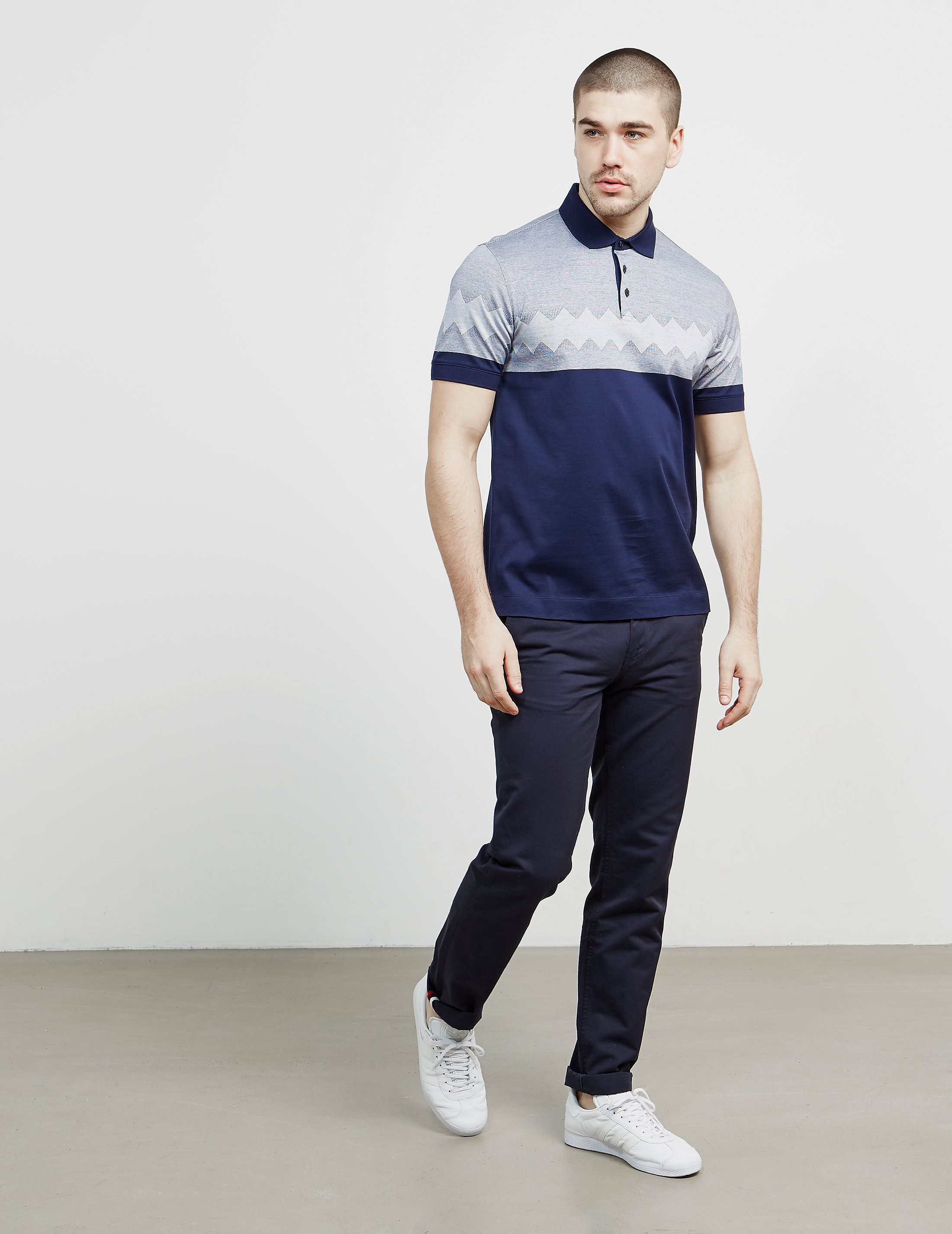 Z Zegna Diamond Short Sleeve Polo Shirt
