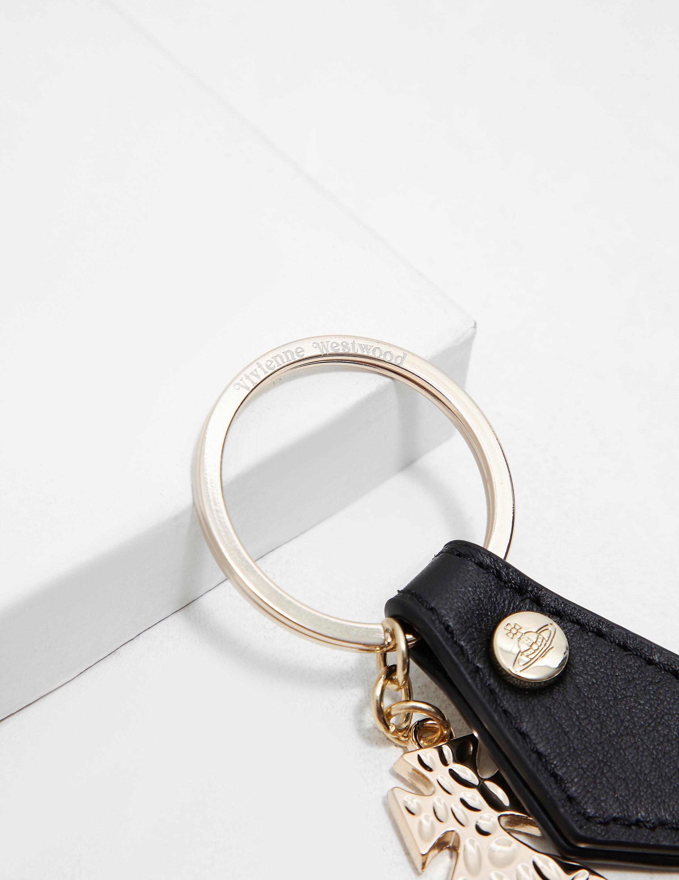 Vivienne Westwood Hammered Orb Keychain