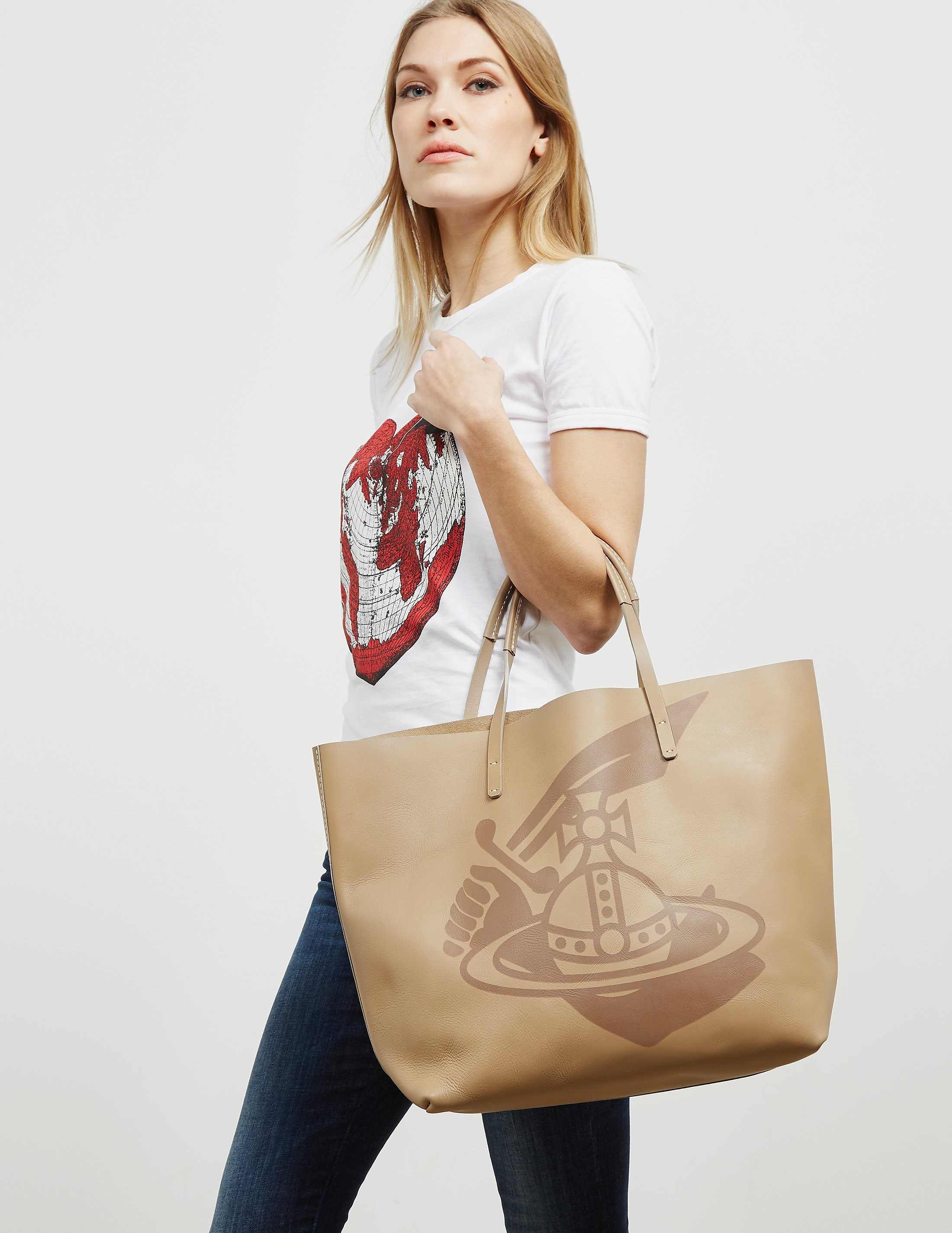Vivienne Westwood Anglomania Africa Shopper Bag