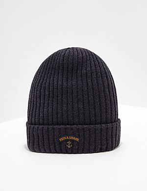 6f422ef71f2 Paul and Shark Ribbed Knitted Logo Beanie ...