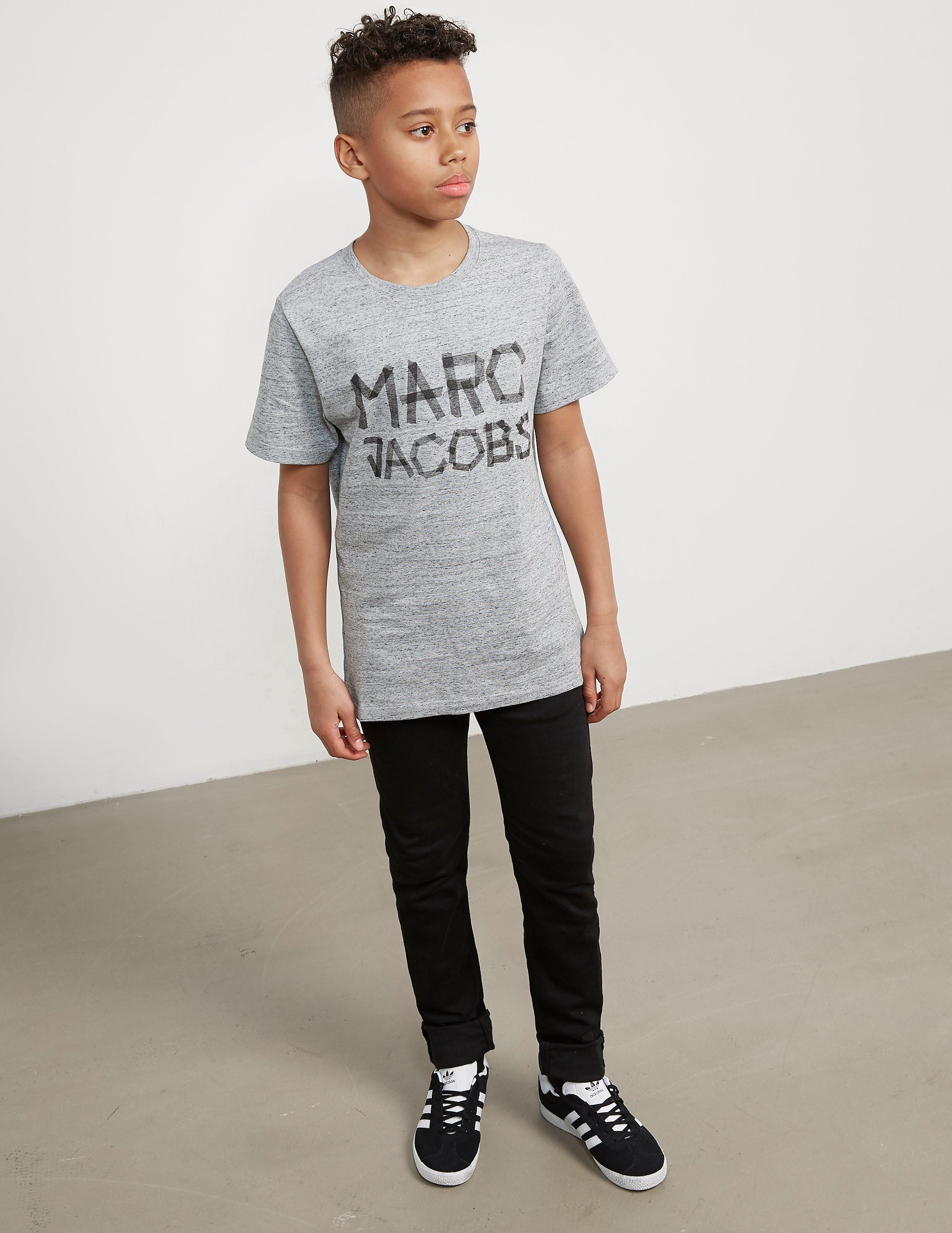 Little Marc Jacobs Tape Logo Short Sleeve T-Shirt