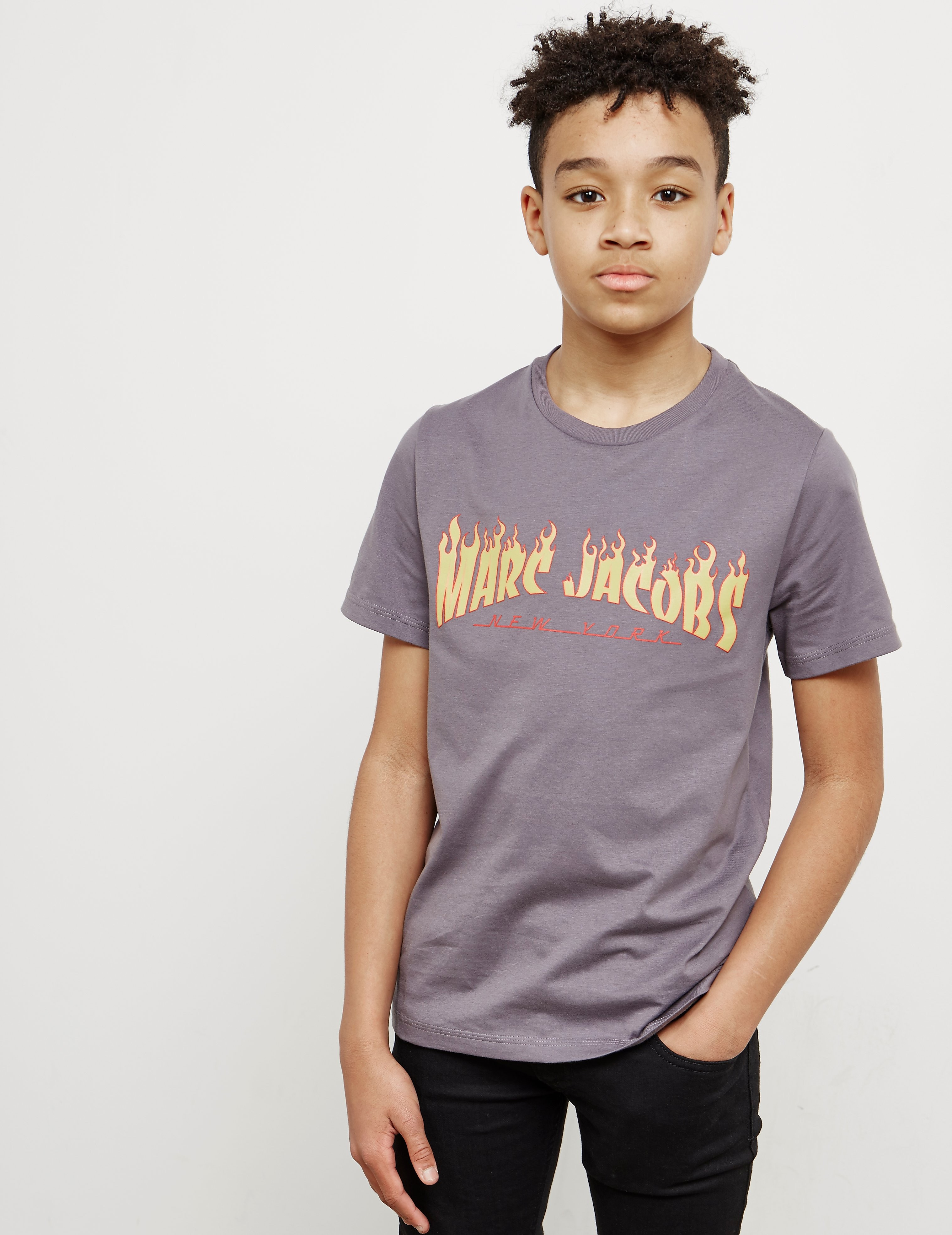 Little Marc Jacobs Flame Logo Short Sleeve T-Shirt