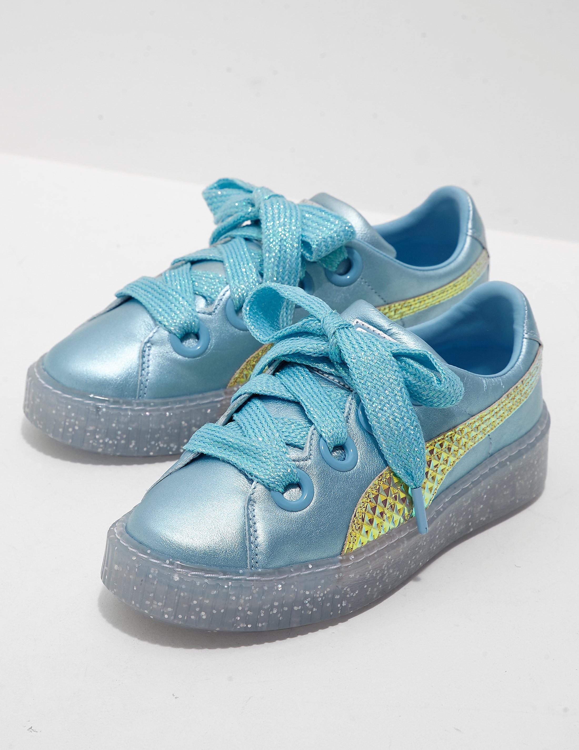 PUMA Platform Glitter Princess Trainers