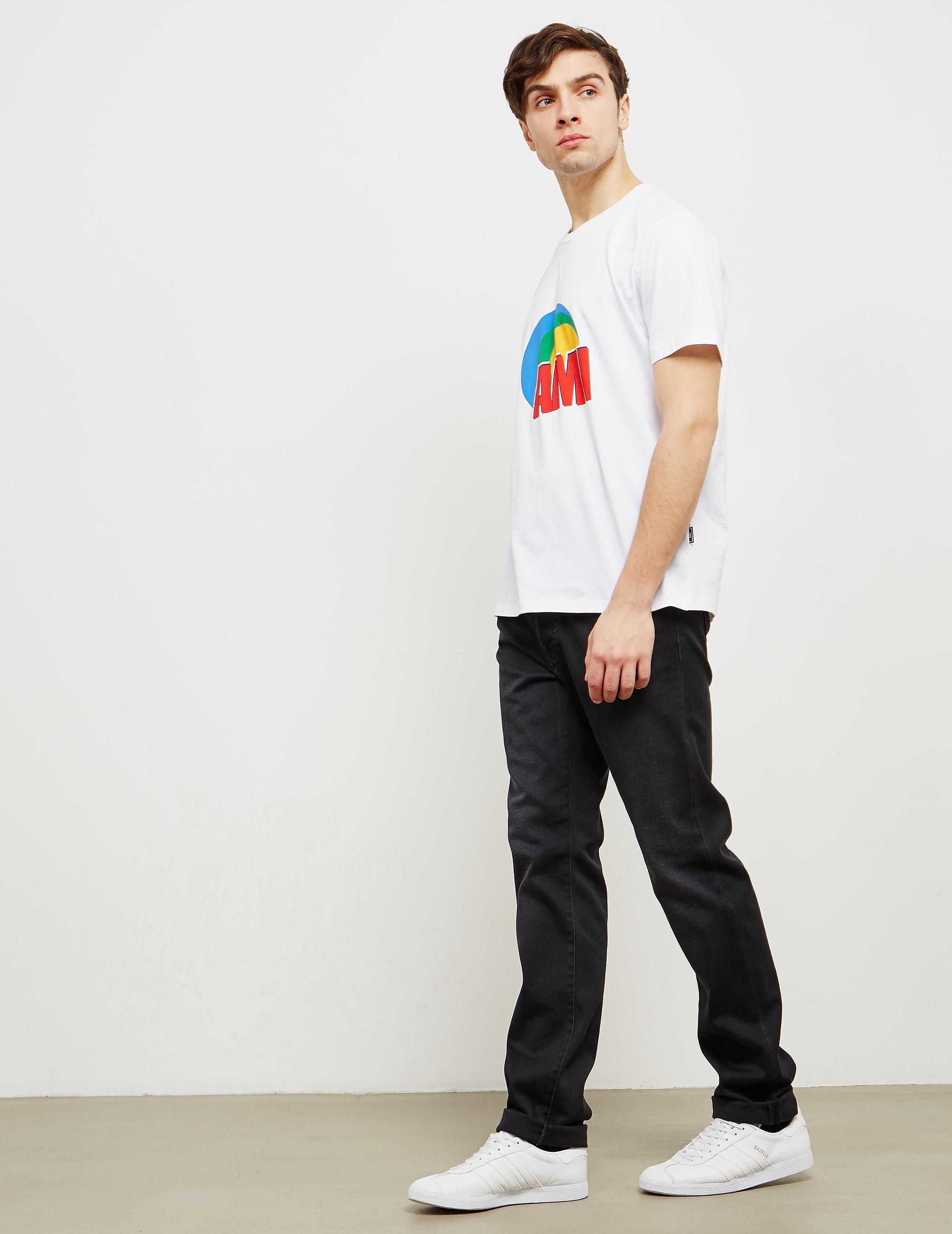 AMI Paris Circle Short Sleeve T-Shirt
