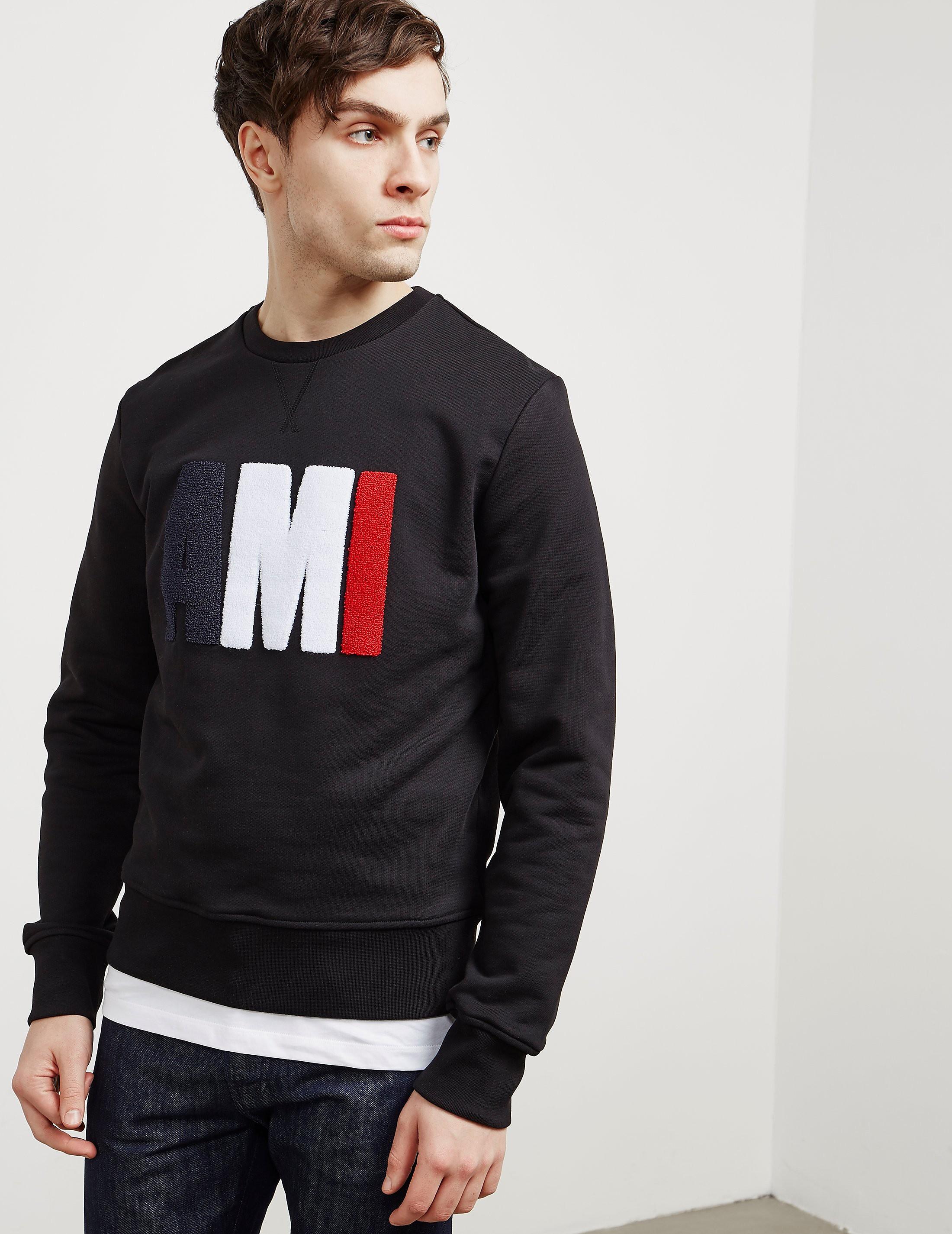 AMI Paris Chenille Logo Crew Sweatshirt