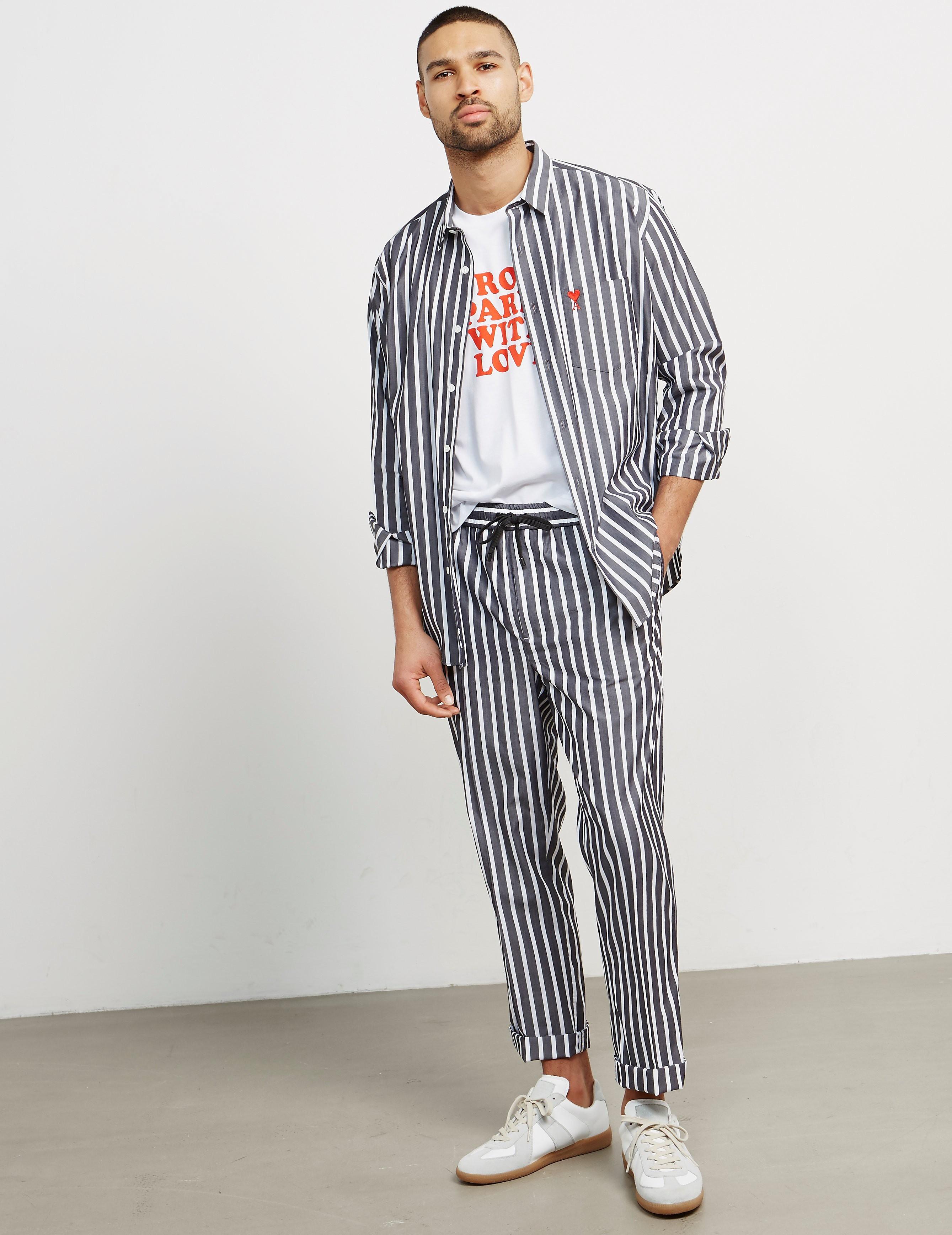 AMI Paris Striped Trousers