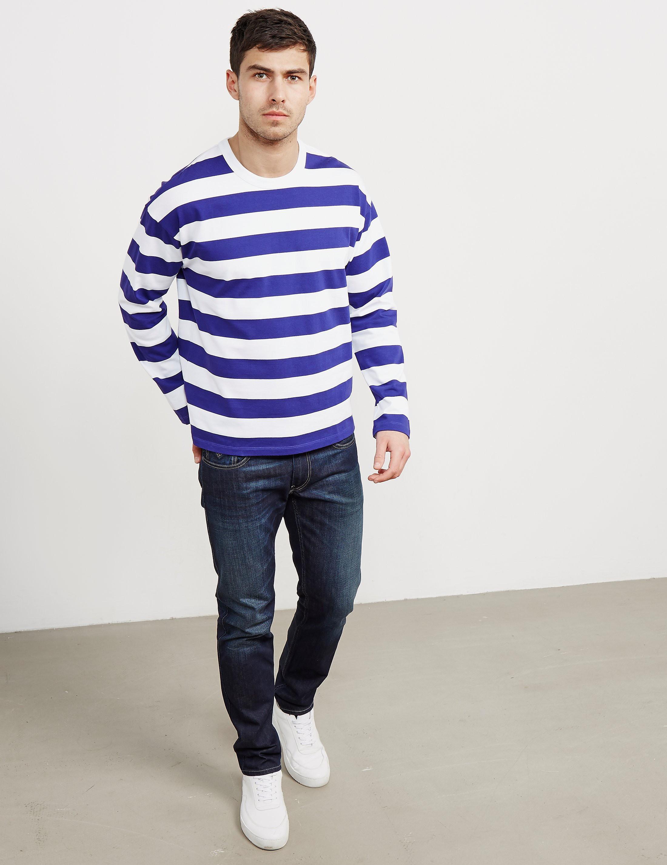 AMI Paris Stripe Long Sleeve T-Shirt
