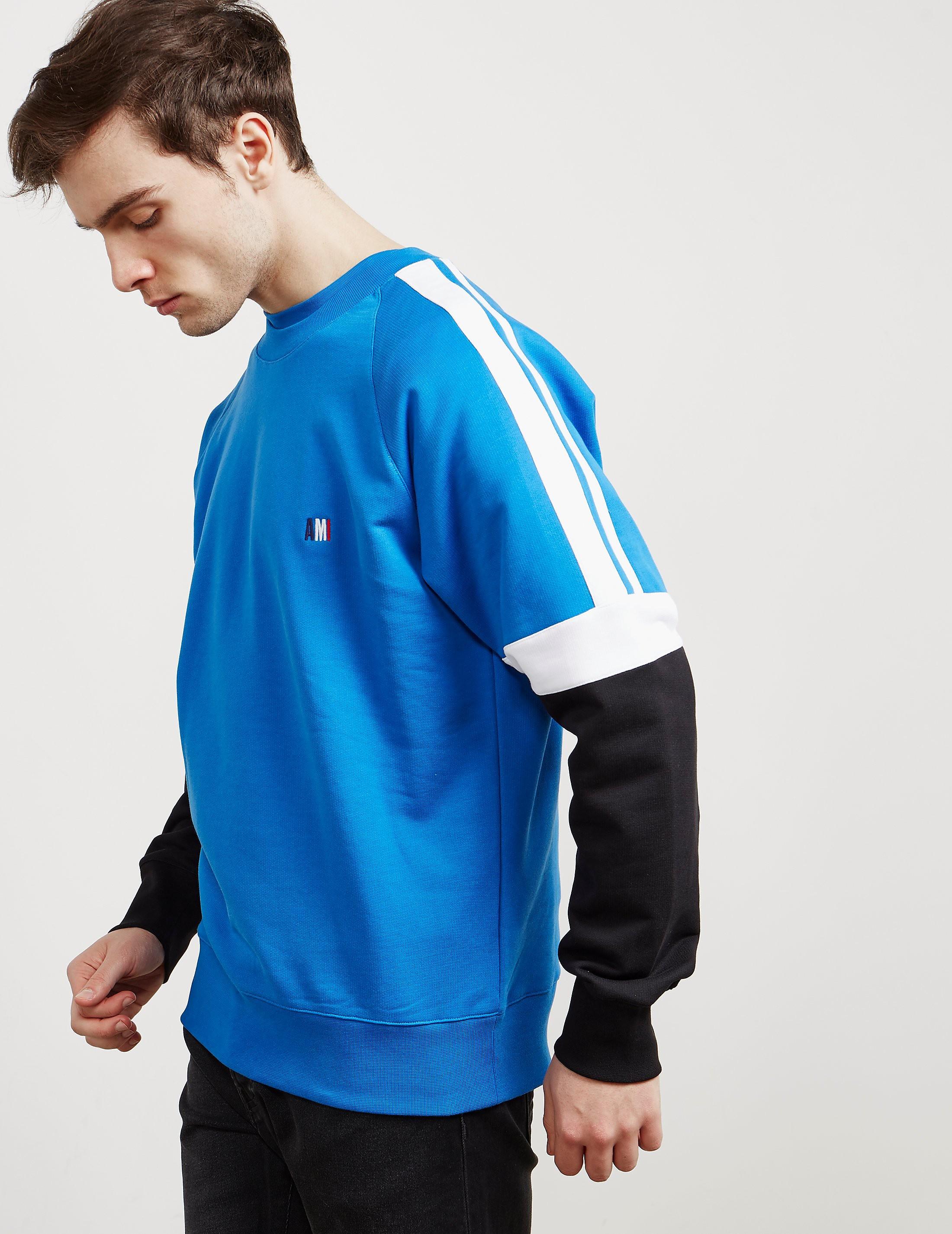 AMI Paris Tricolour Sweatshirt