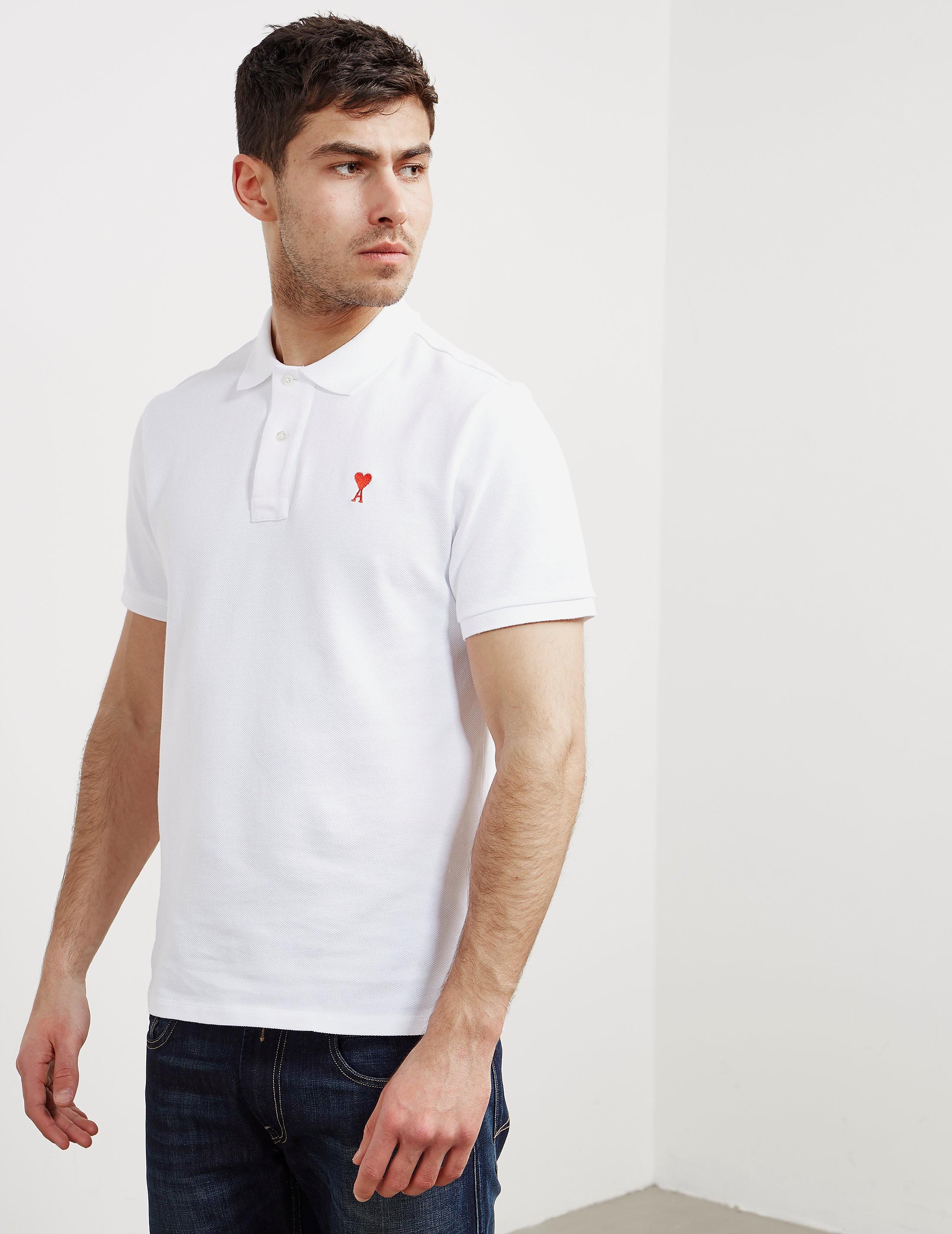 AMI Paris A Heart Short Sleeve Polo Shirt
