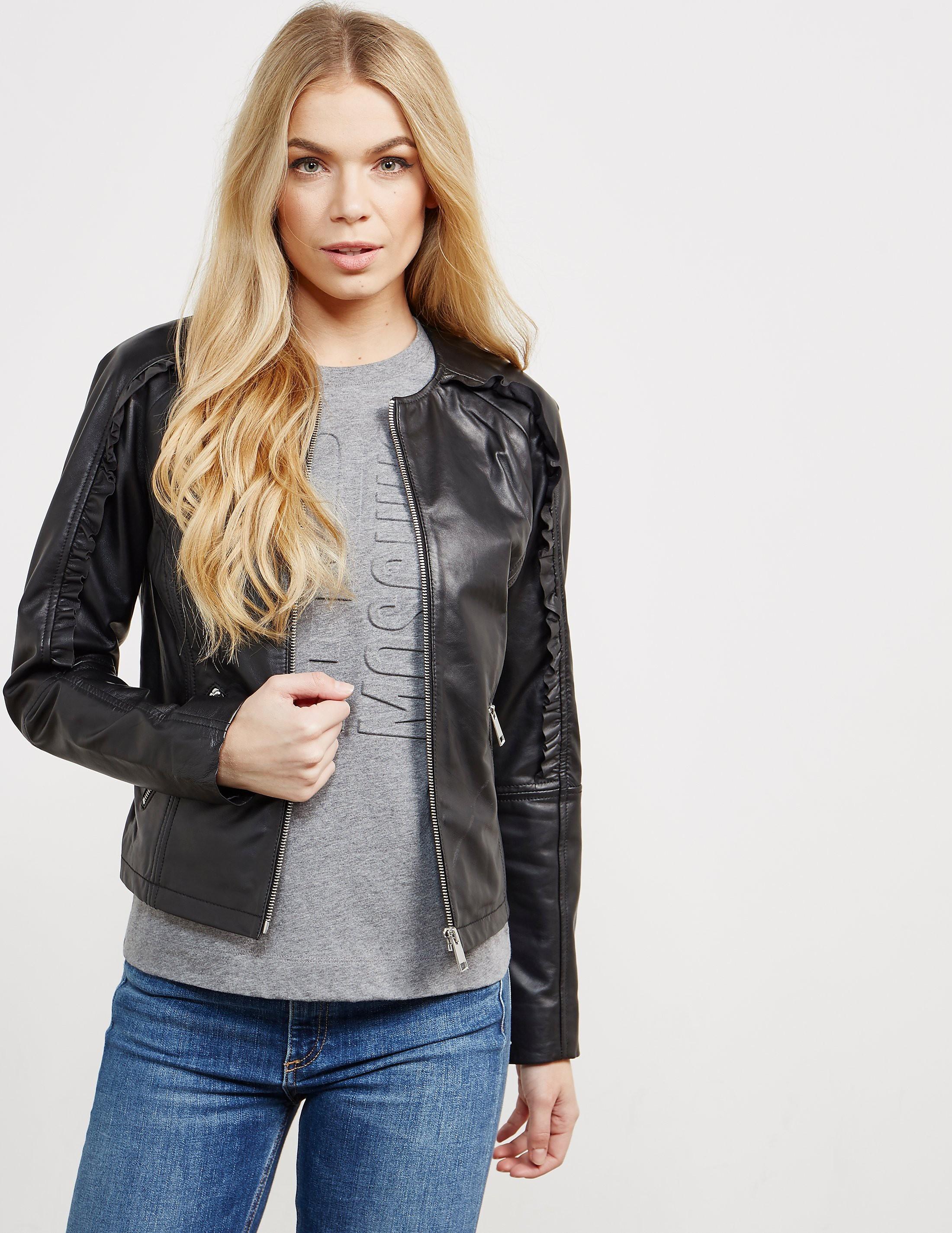 Rino & Pelle Ruffle Leather Jacket