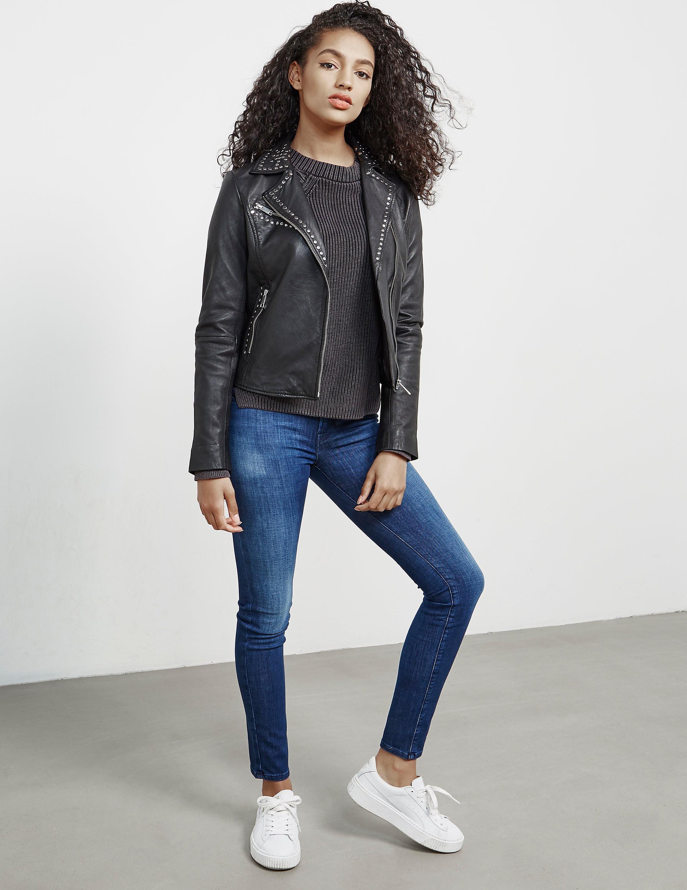 Rino & Pelle Leather Stud Jacket