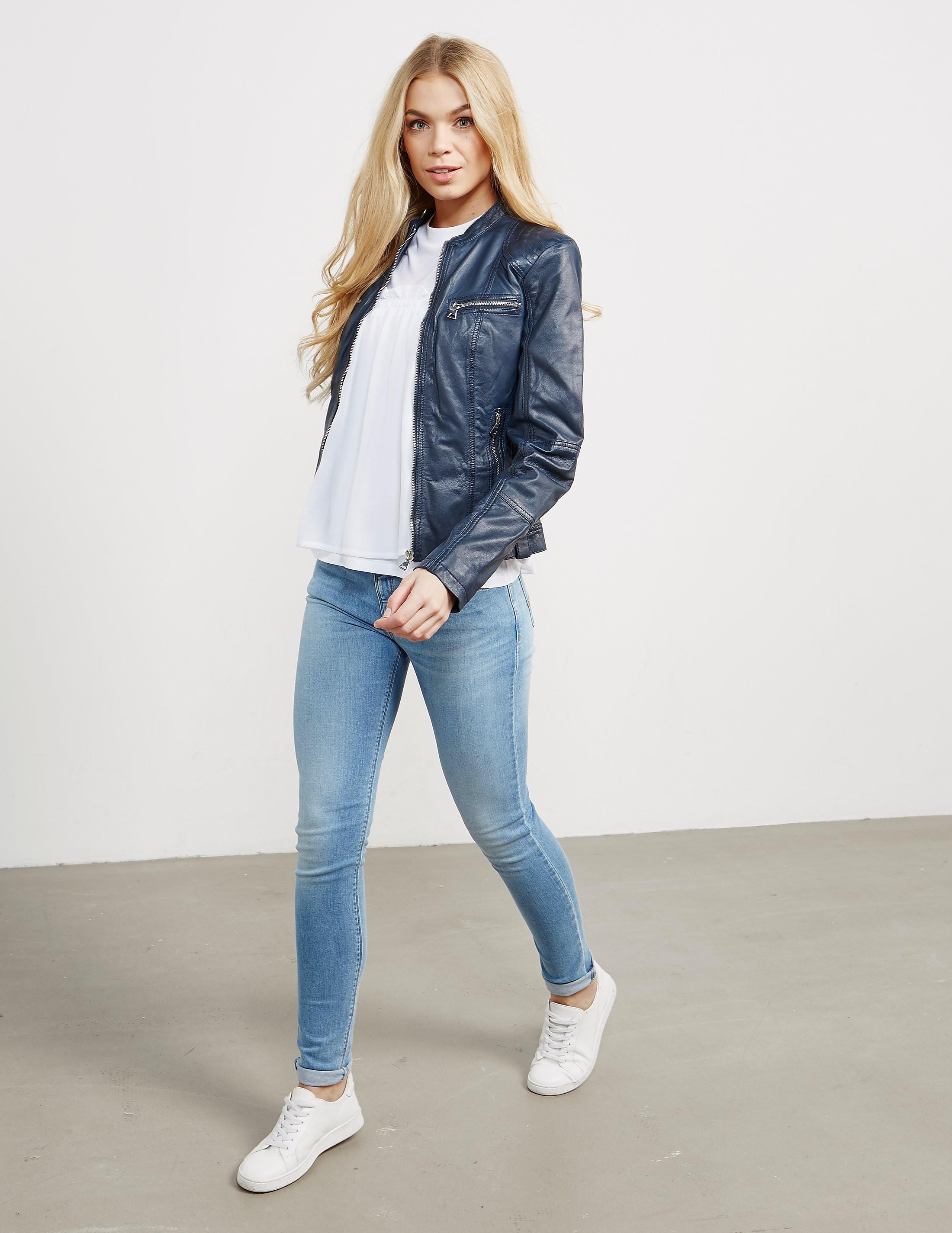 Rino & Pelle Collarless Leather Jacket