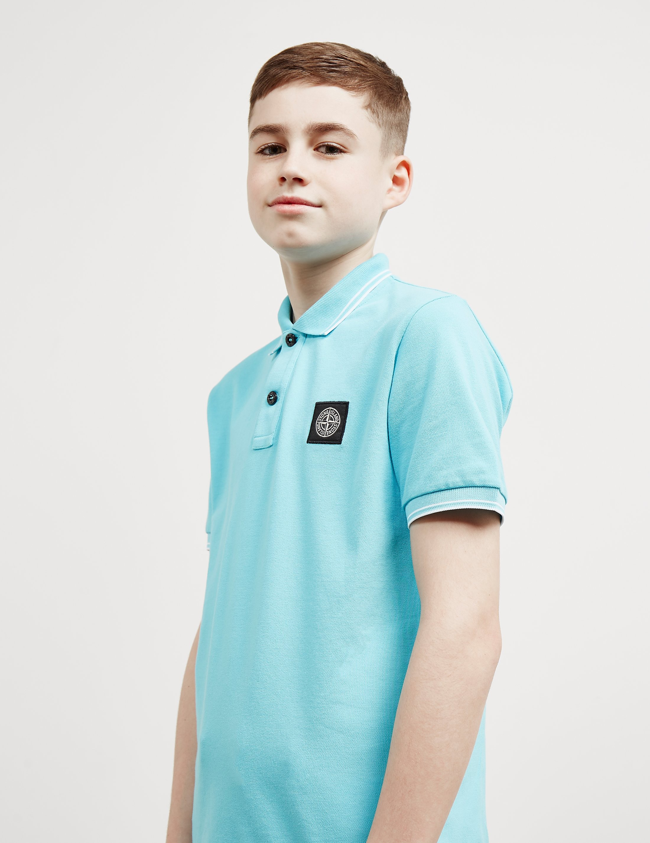 Stone Island Patch Short Sleeve Polo Shirt
