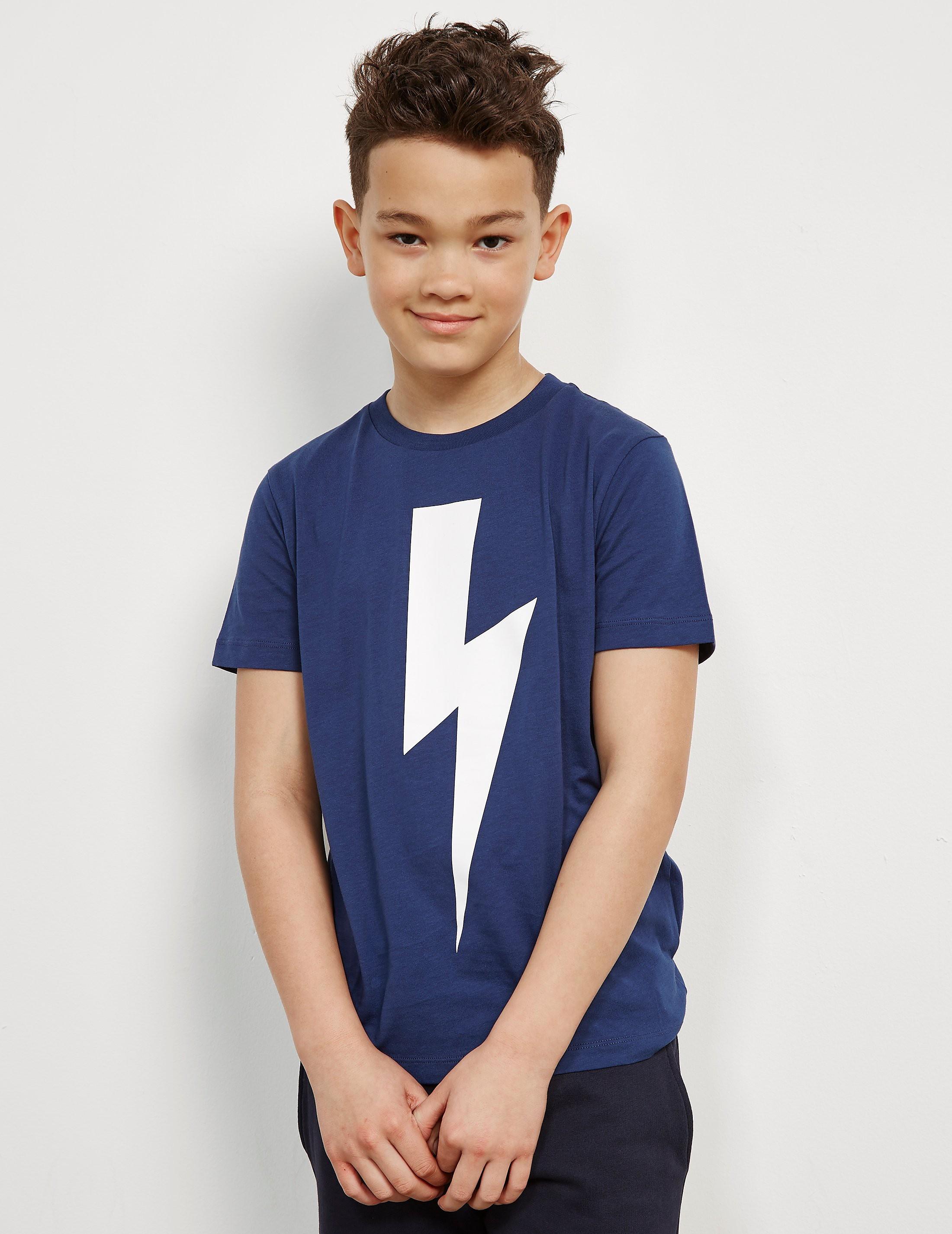 Neil Barrett Large Bolt Short Sleeve T-Shirt
