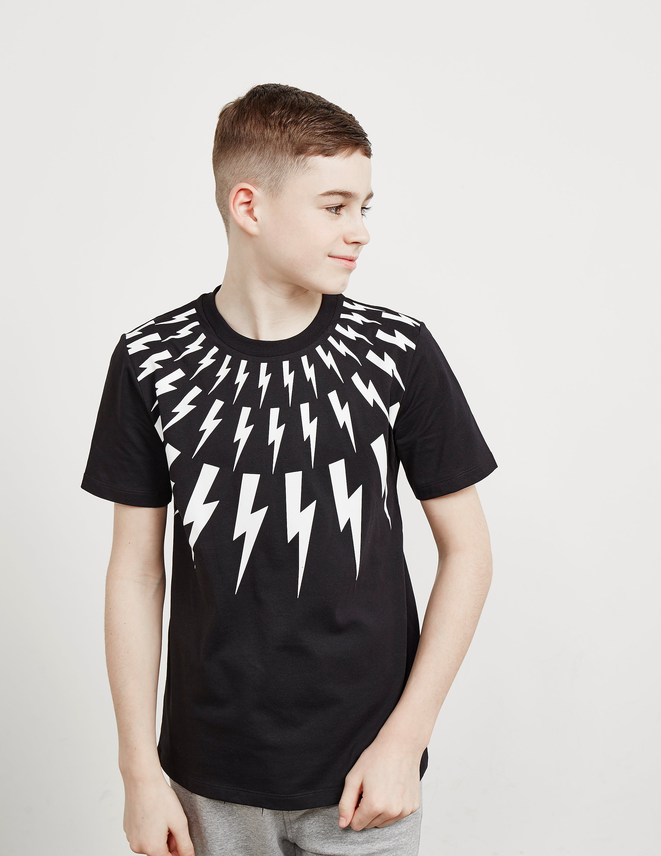 Neil Barrett Bolt Neck Short Sleeve T-Shirt