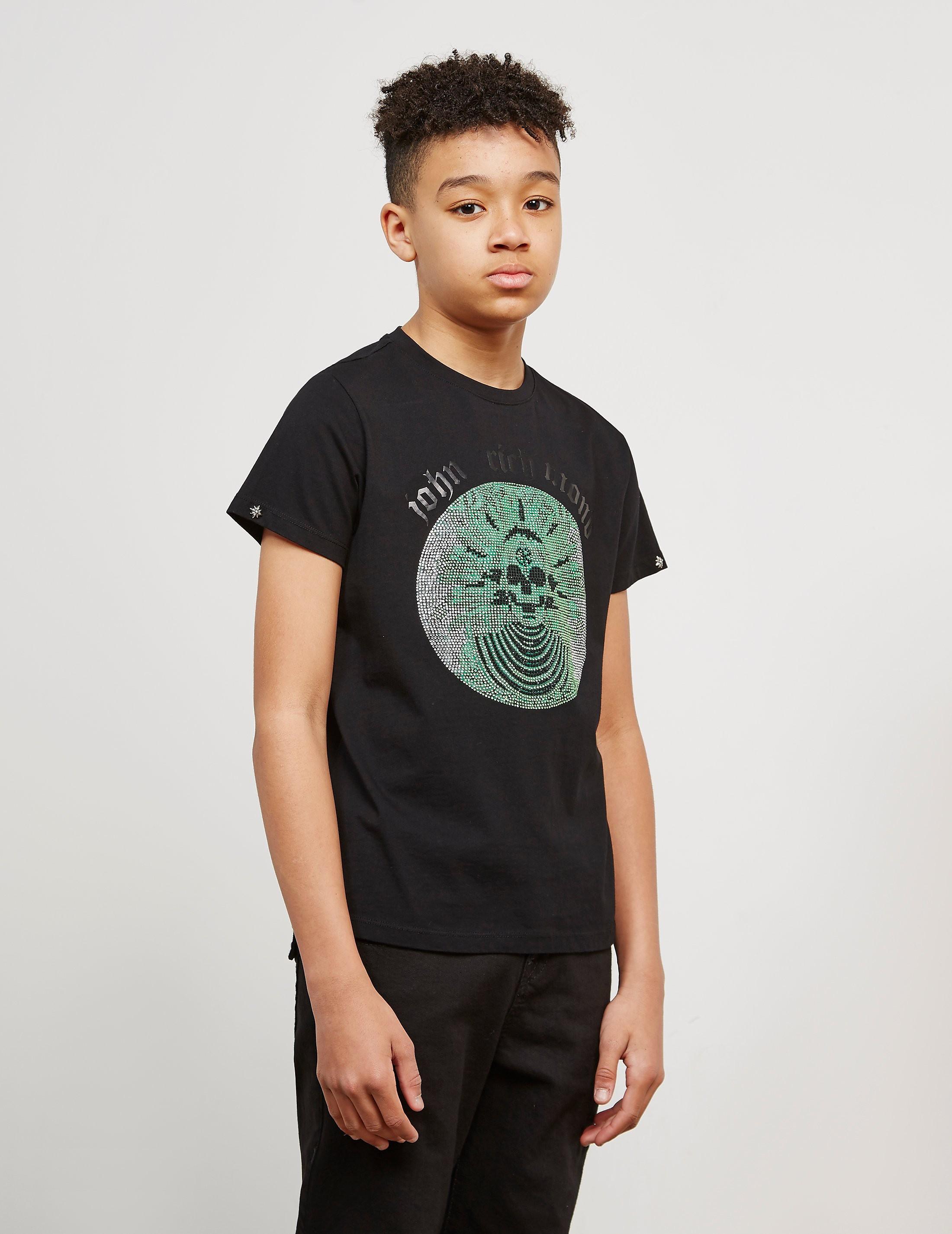 John Richmond Skull Gem Short Sleeve T-Shirt